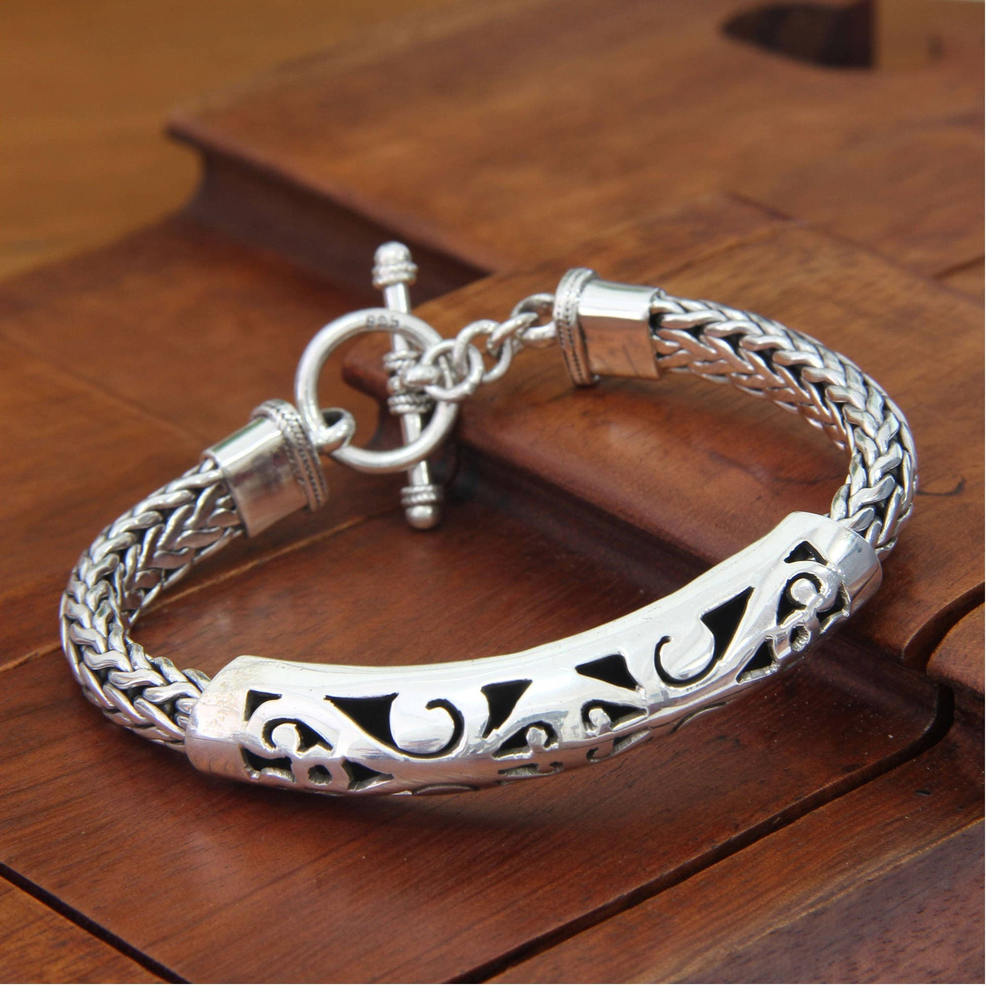 silver handmade made sterling novica from hand p rose beauty bracelet india