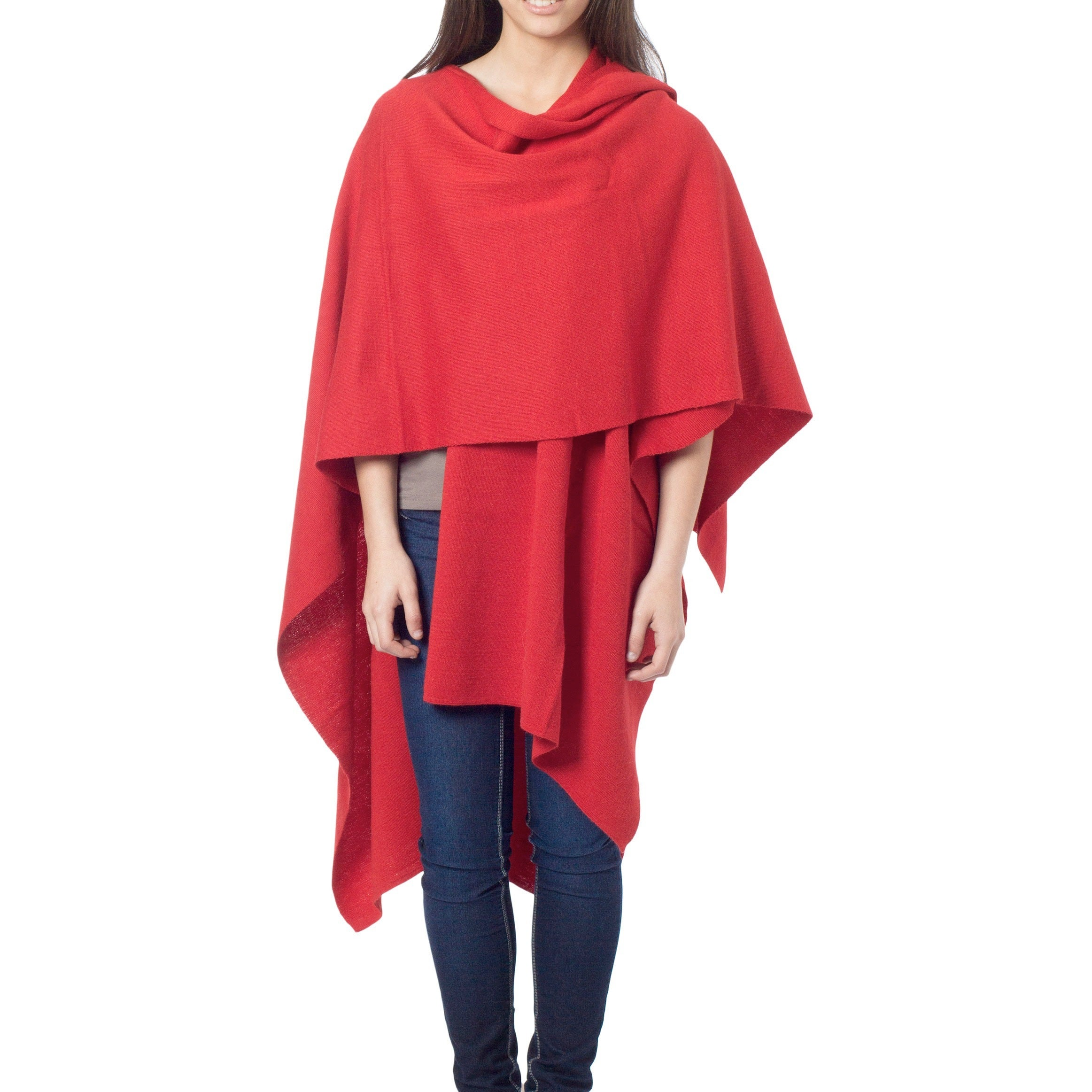 'Fire' Alpaca Wool Wrap (Peru) (As Is Item)