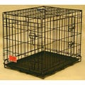 Double Door Medium 30-inch Folding Dog Crate Cage