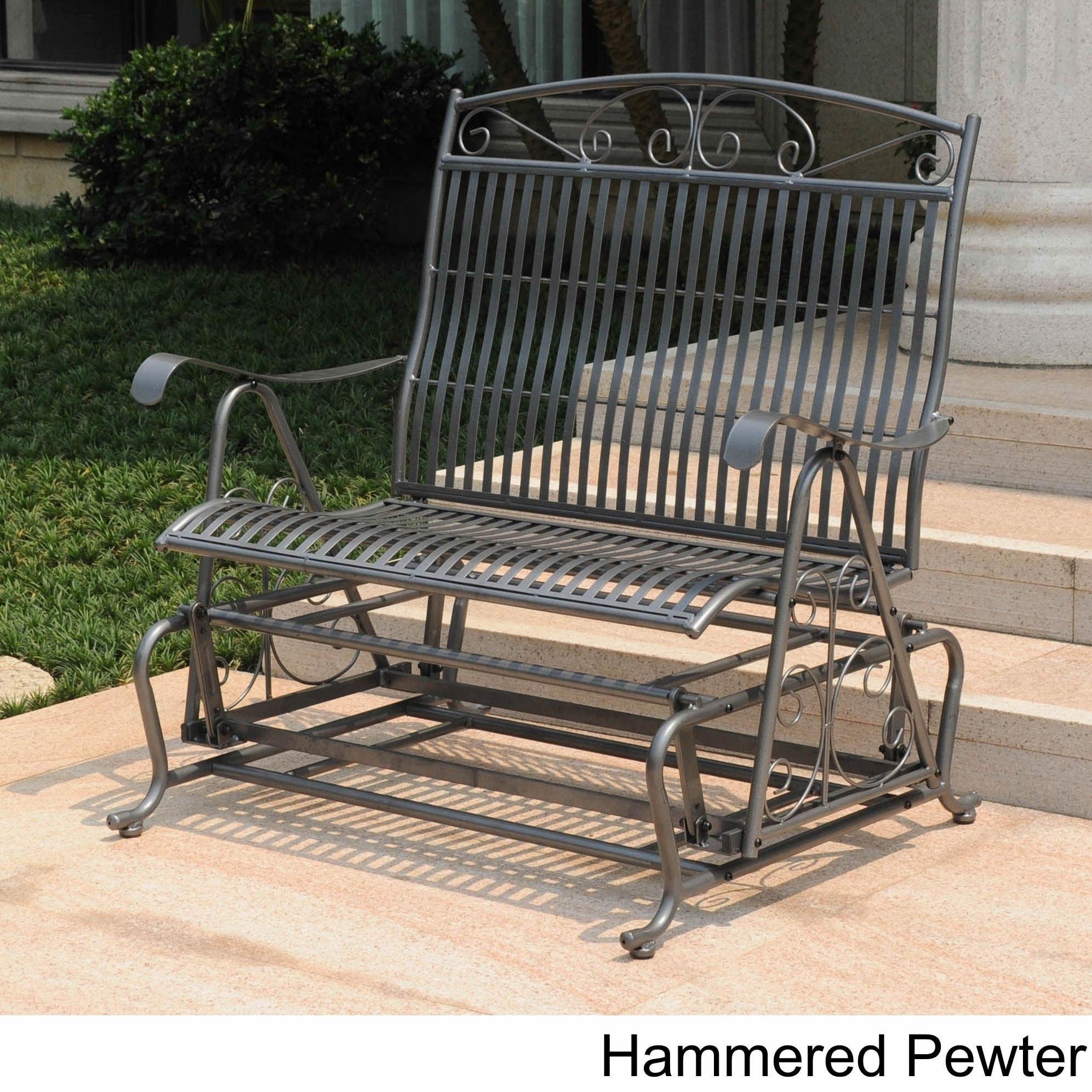 pin patio bench outdoor black international furniture metal blk