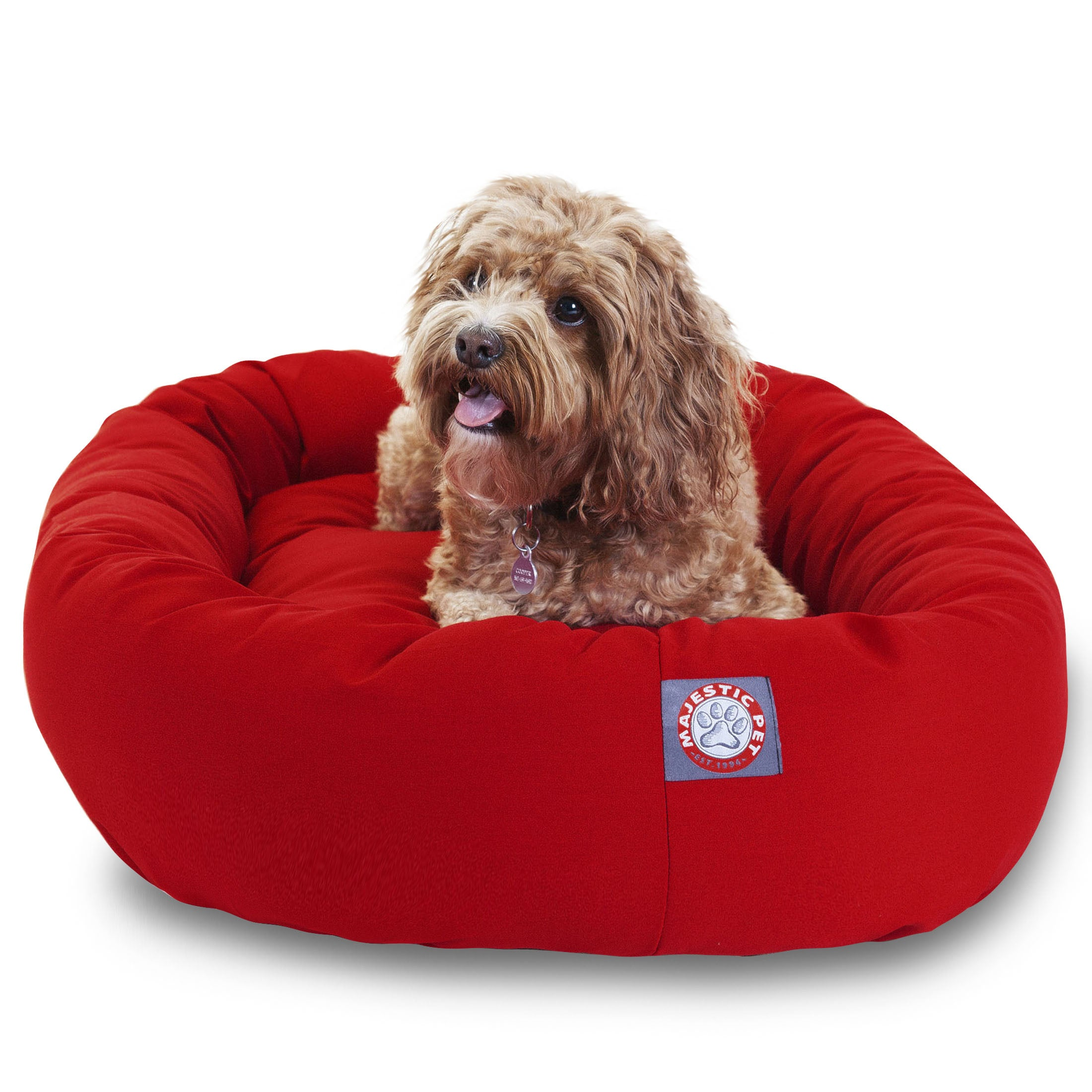 Shop Majestic Pet Luxurious Bagel Style Donut Plush Pet Dog Bed   Free  Shipping Today   Overstock.com   2682547