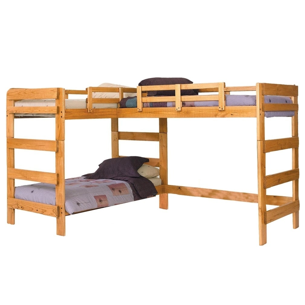 Shop Honey Lane Honey L Shaped Loft Bed Free Shipping Today