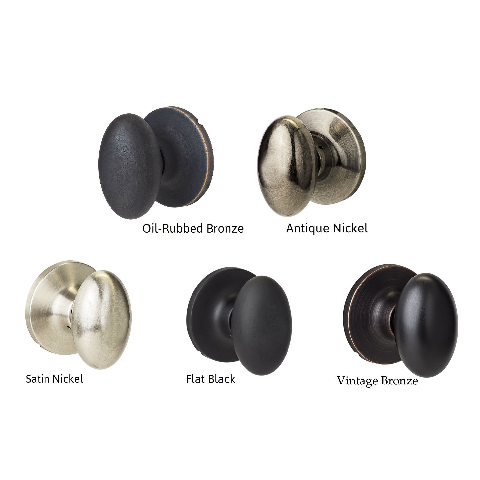 Shop Sure Loc Egg Shaped Passage Door Knob Pair (2 Complete Sets)   On Sale    Free Shipping On Orders Over $45   Overstock.com   2688429