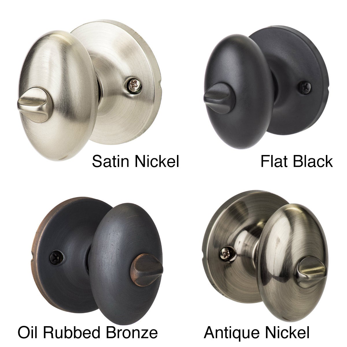 Good Shop Sure Loc Egg Shaped Privacy Door Knob Pair (2 Complete Sets)   Free  Shipping On Orders Over $45   Overstock.com   2688430