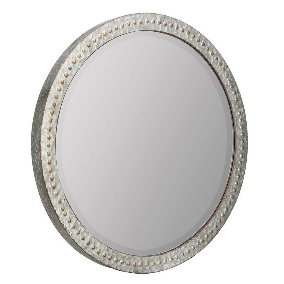 Shop Banley Round Wall Mirror Gold Silver Free Shipping Today
