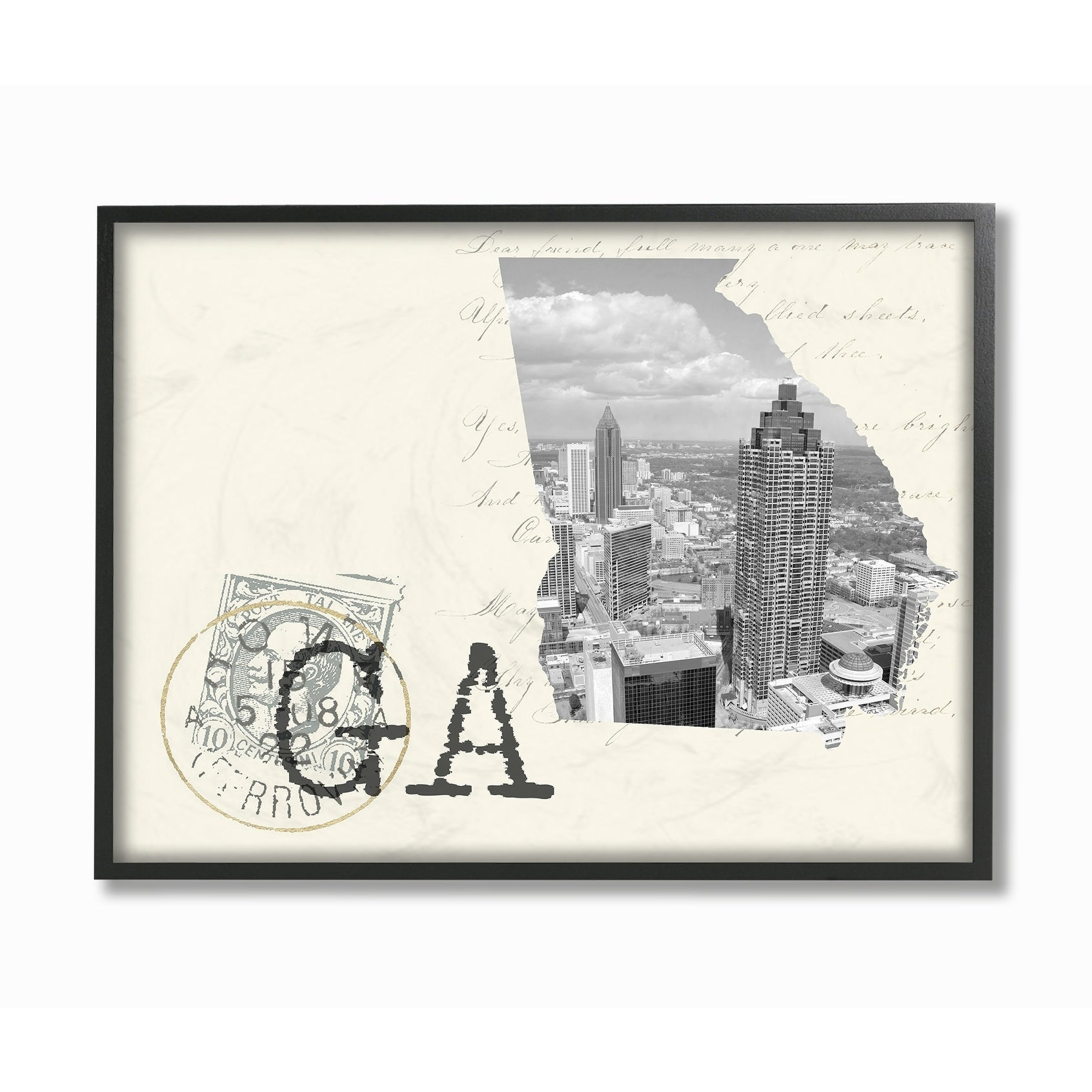 Shop the stupell home decor georgia black and white photograph framed art 11 x 14 proudly made in usa multi color on sale free shipping on orders