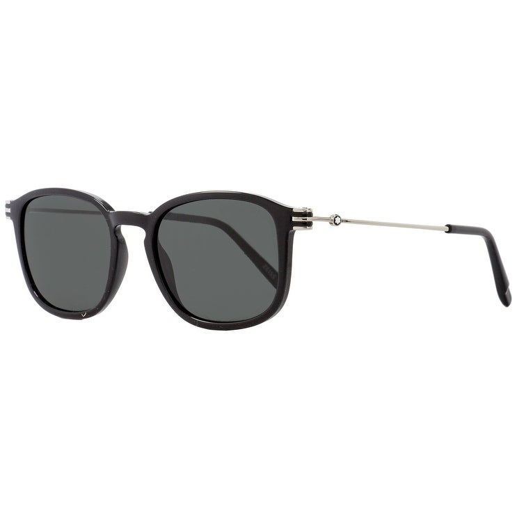 d1c503a898 Shop Montblanc MB698S 01A Mens Shiny Black Palladium 52 mm Sunglasses - Shiny  Black Palladium - Free Shipping Today - Overstock.com - 26887153