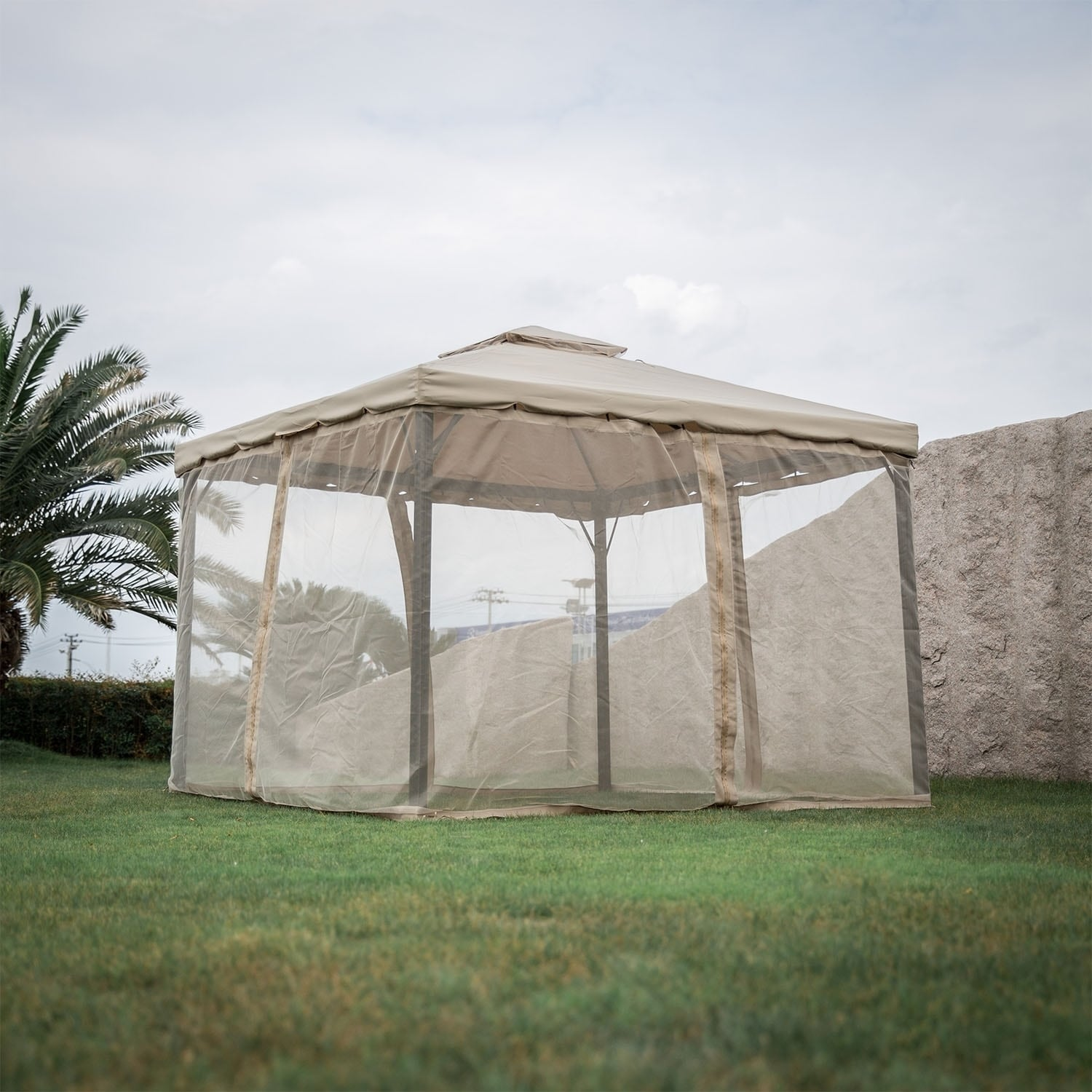 Shop Kinbor Outdoor Gazebo Patio Gazebo Pop up Canopy Tent w/ Mosquito Netting u0026 Side Walls - On Sale - Free Shipping Today - Overstock - 26956242 & Shop Kinbor Outdoor Gazebo Patio Gazebo Pop up Canopy Tent w ...