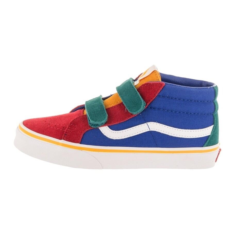 8621b3cfee Shop Vans Kids Sk8-Mid Reissue V (Primary Block) Skate Shoe - Free Shipping  Today - Overstock - 26961018