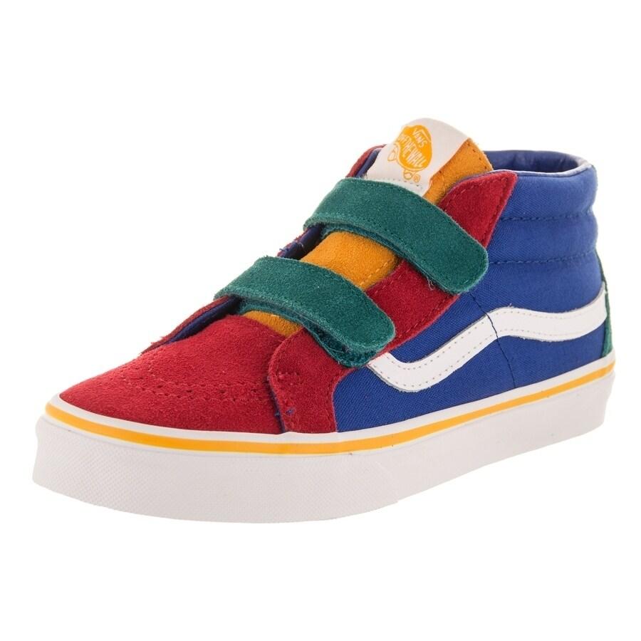 f0c0ee4387d Shop Vans Kids Sk8-Mid Reissue V (Primary Block) Skate Shoe - Free ...