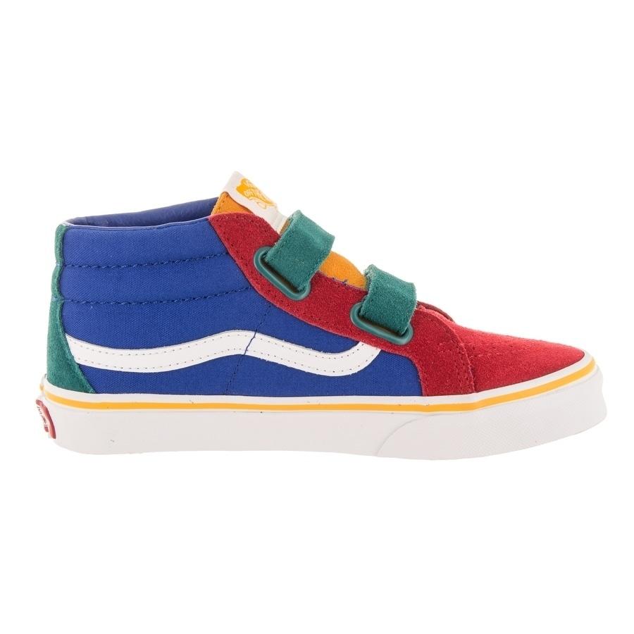 Shop Vans Kids Sk8-Mid Reissue V (Primary Block) Skate Shoe - Free Shipping  Today - Overstock - 26961018 de05d2ee6