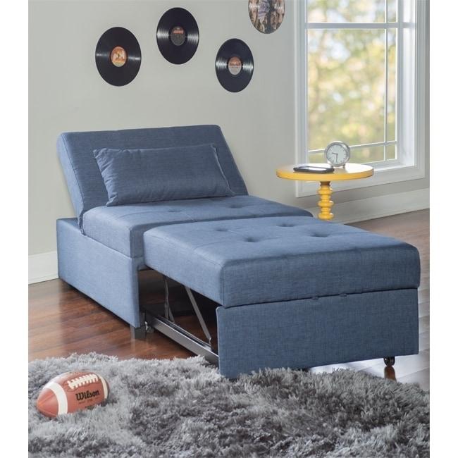 Shop Zenda Sofa Bed Blue - Overstock - 26970074
