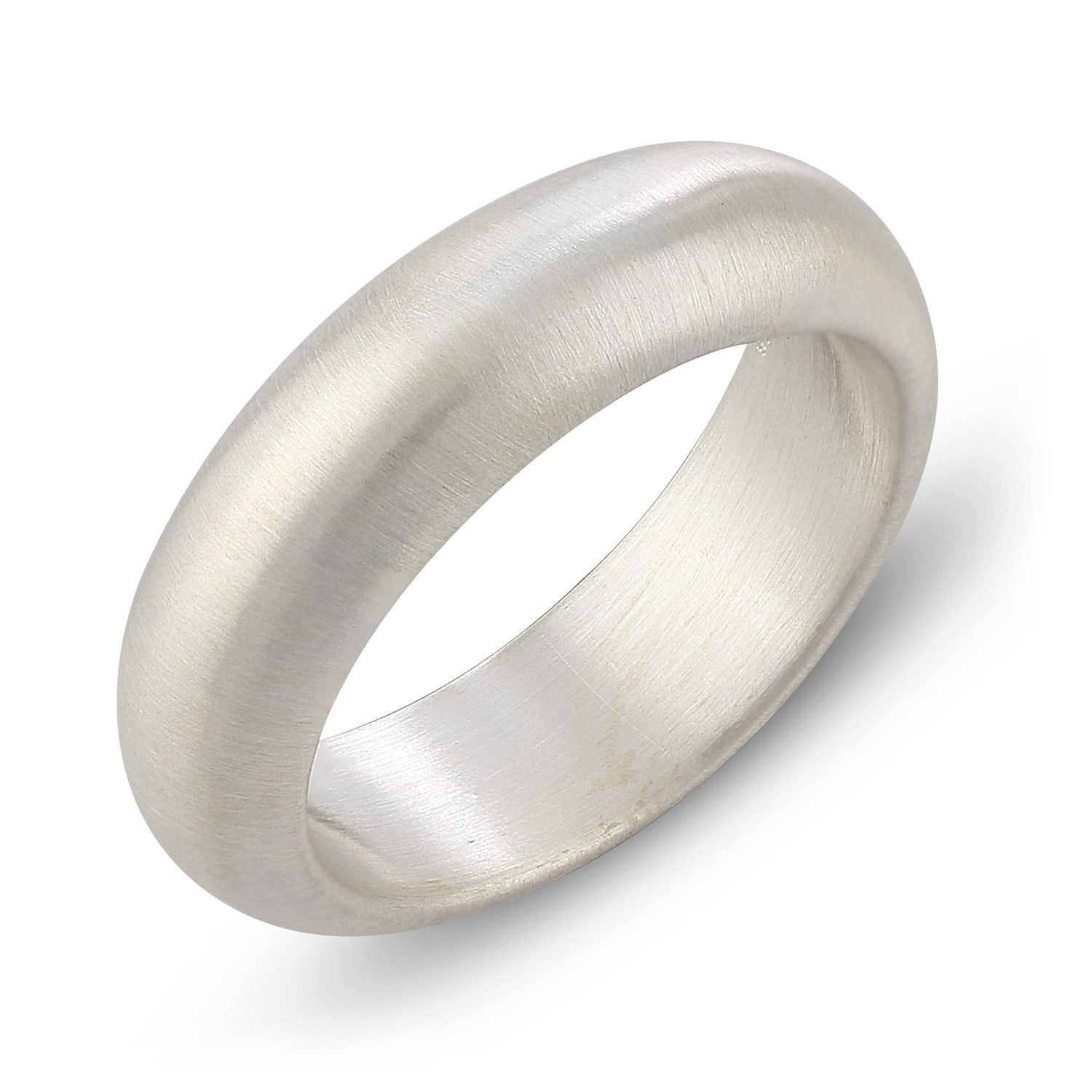 Shop 6mm Band Width 925 Sterling Silver Comfort Fit Wedding Band