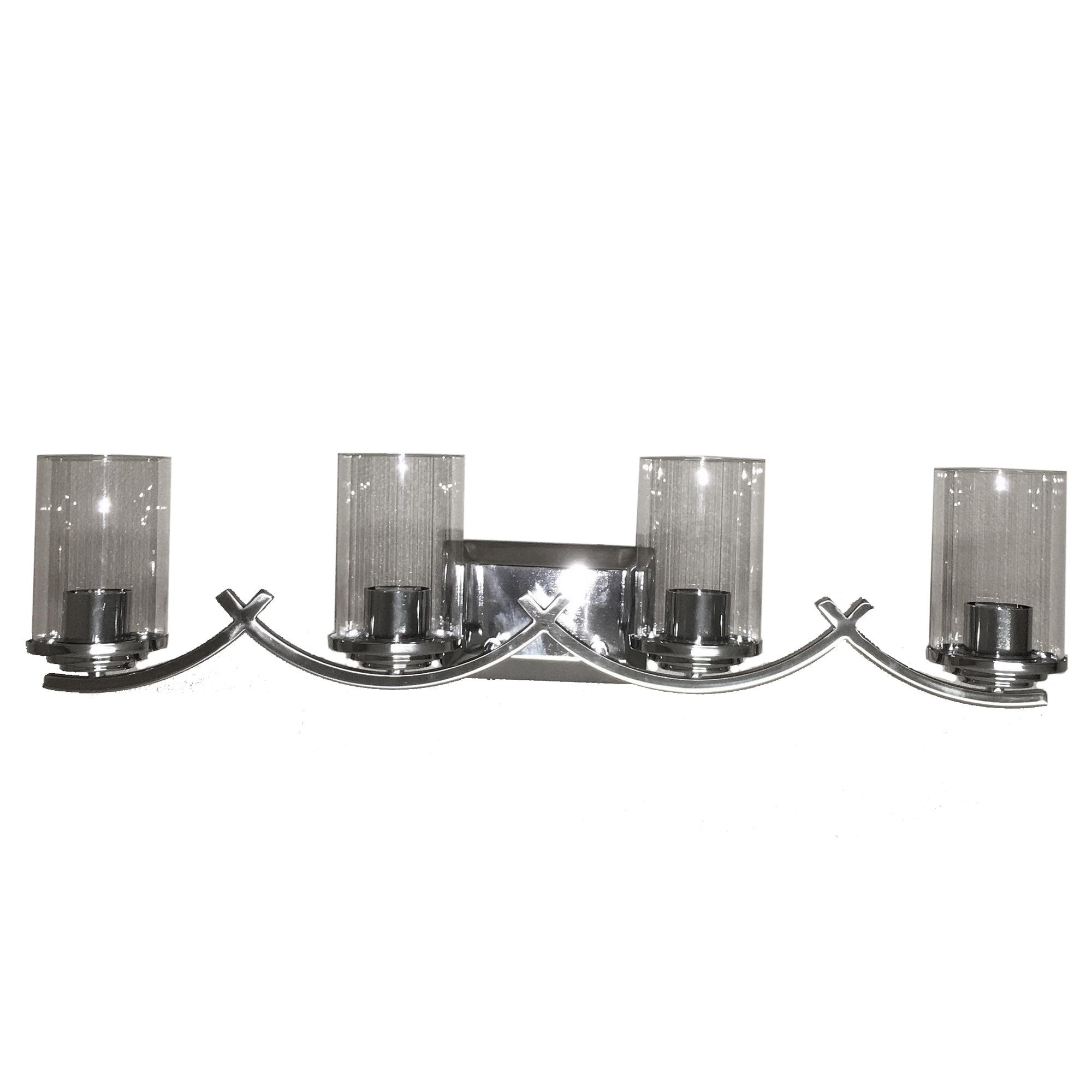 Brina 4 light vanity lighting in chrome