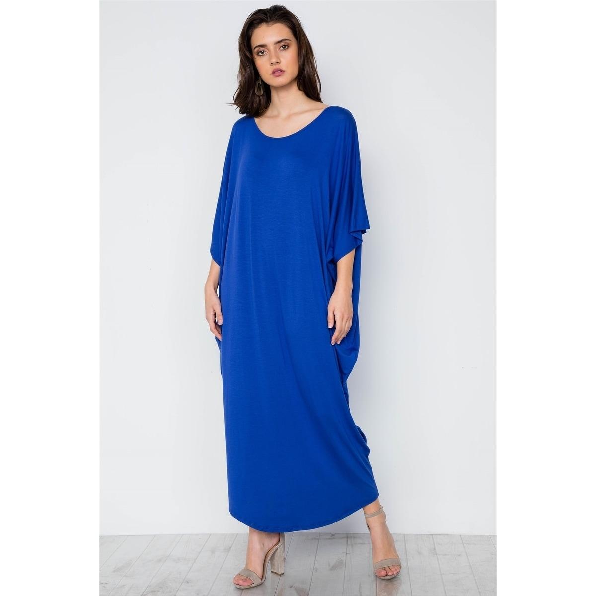 491e1105a4d Shop JED Women s Batwing Sleeve Drapey Resort Maxi Dress - On Sale ...
