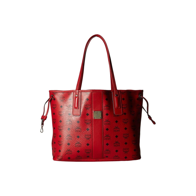 f28c0113e89f Shop MCM Reversible Liz Medium Shopper in Visetos - Ruby Red - On ...