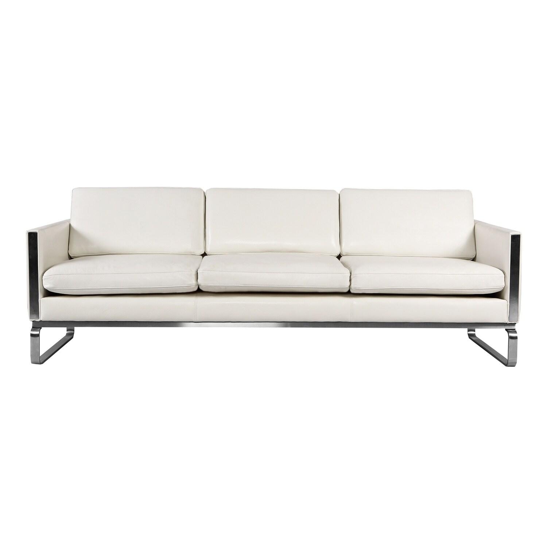 Shop Kardiel Amsterdam CH103 Mid-century Modern Sofa, Premium White ...