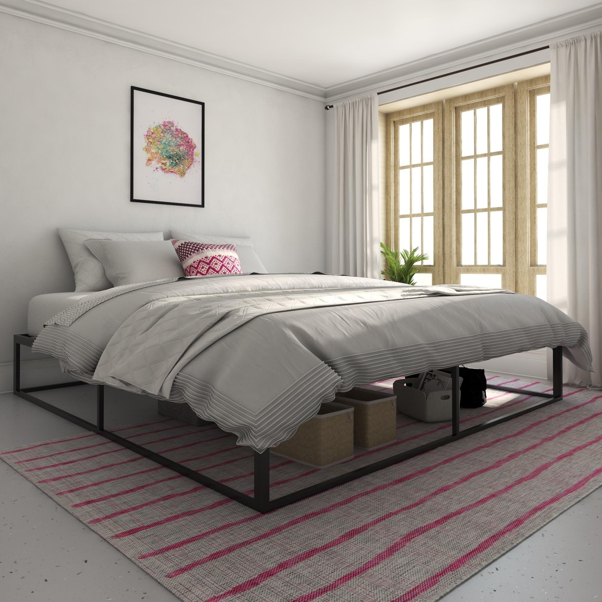 Novogratz Boutique Metal Storage Platform Bed