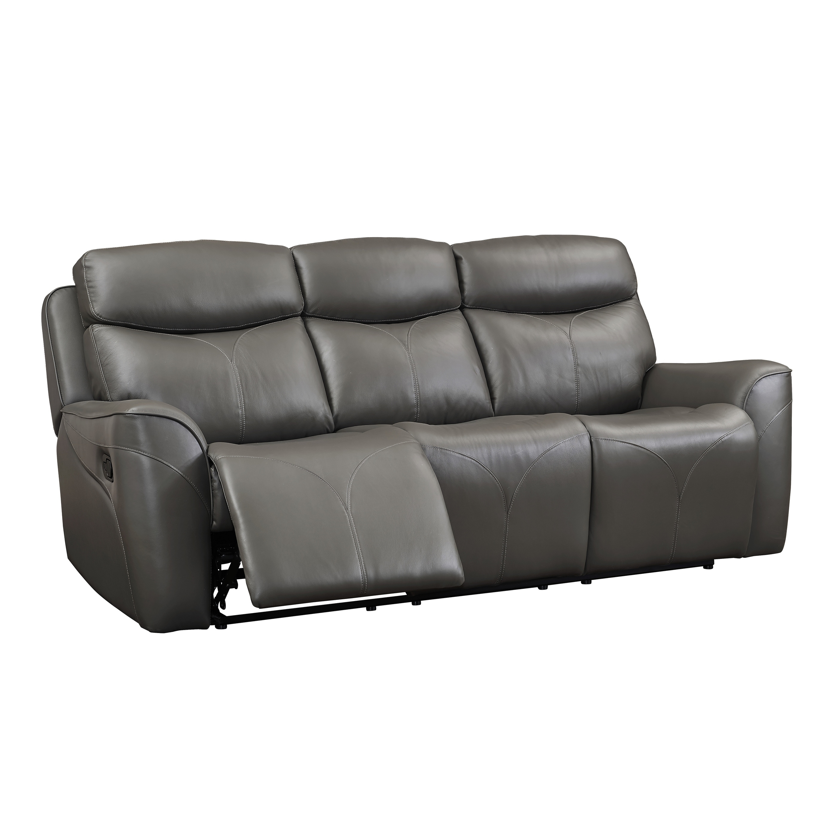 Shop Roxbury Grey Dual Recliner Sofa On Sale Free Shipping Today