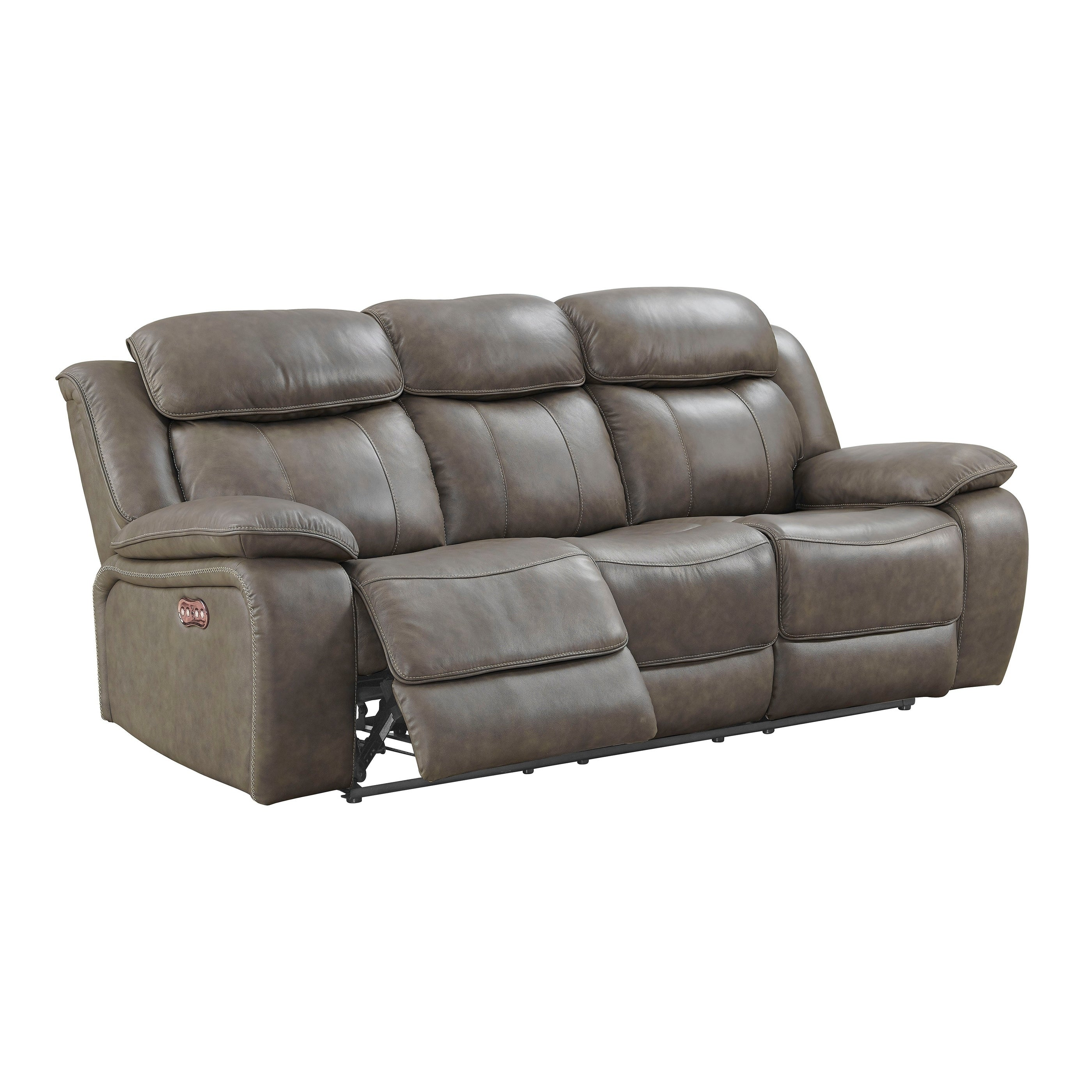 Shop Anya Grey Dual Recliner Sofa On Sale Free Shipping Today