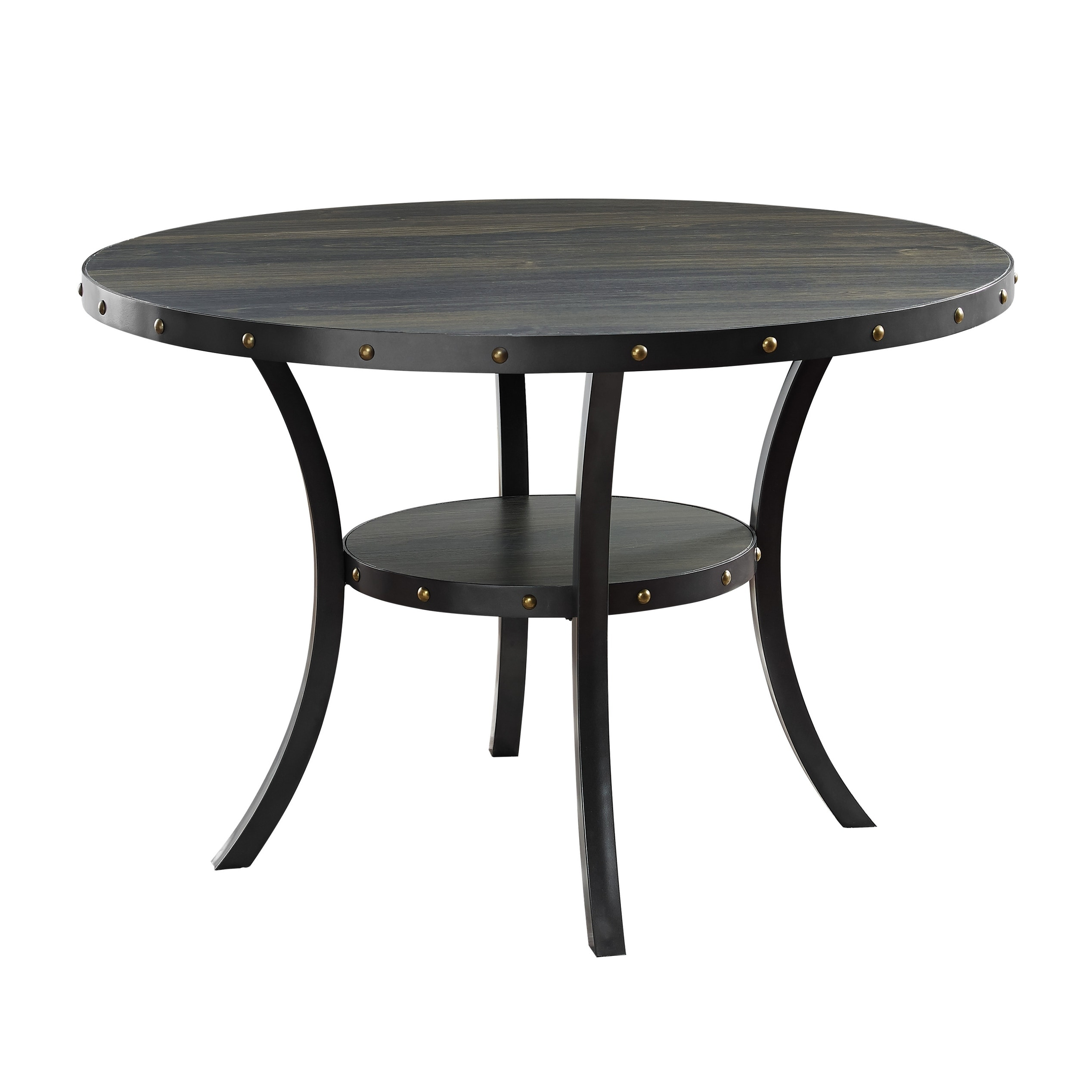 Shop Crispin Smoke 48 Inch Round Dining Table On Sale Free