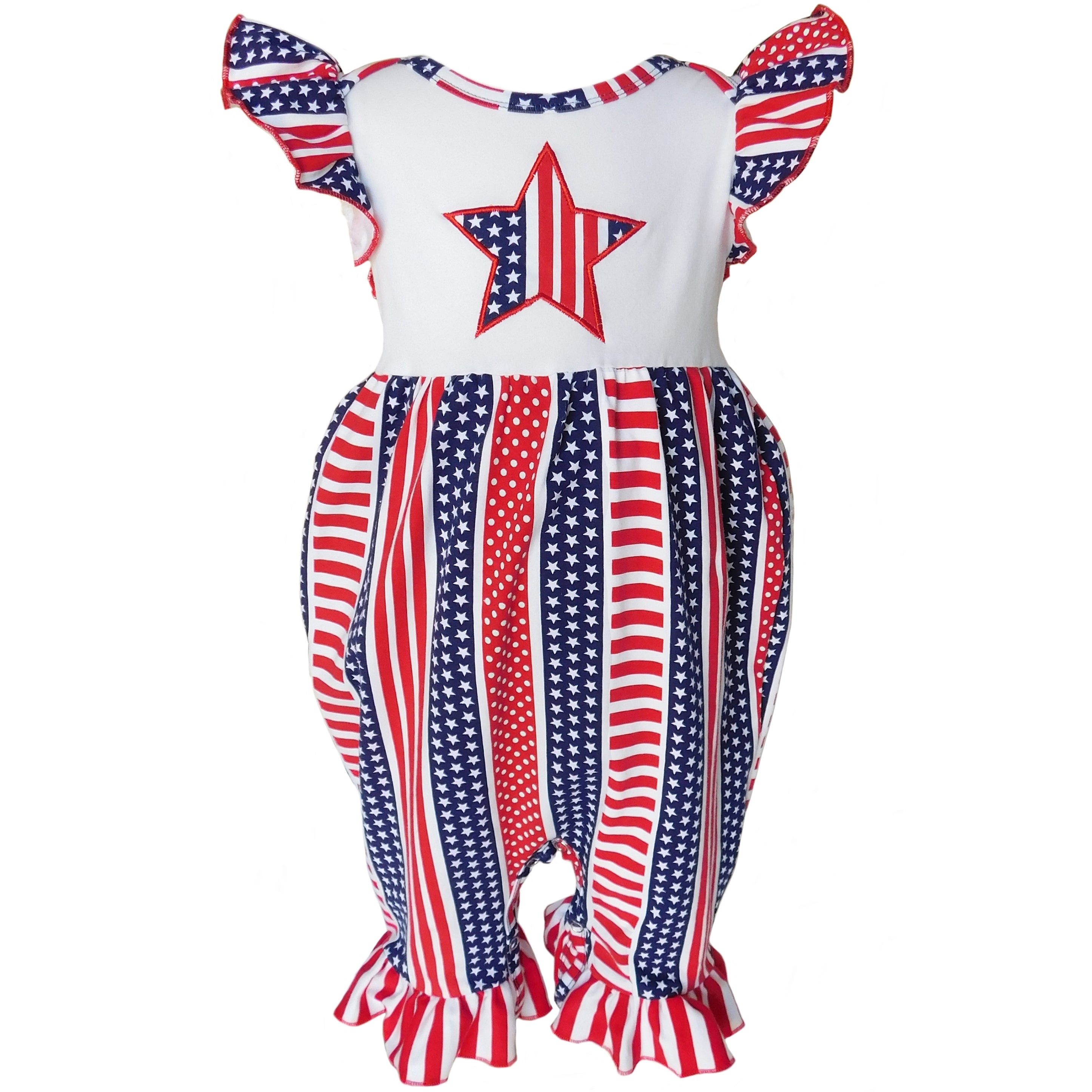 b5773b220 Shop AnnLoren Baby Girls Boutique 4th of July Star and Stripes ...