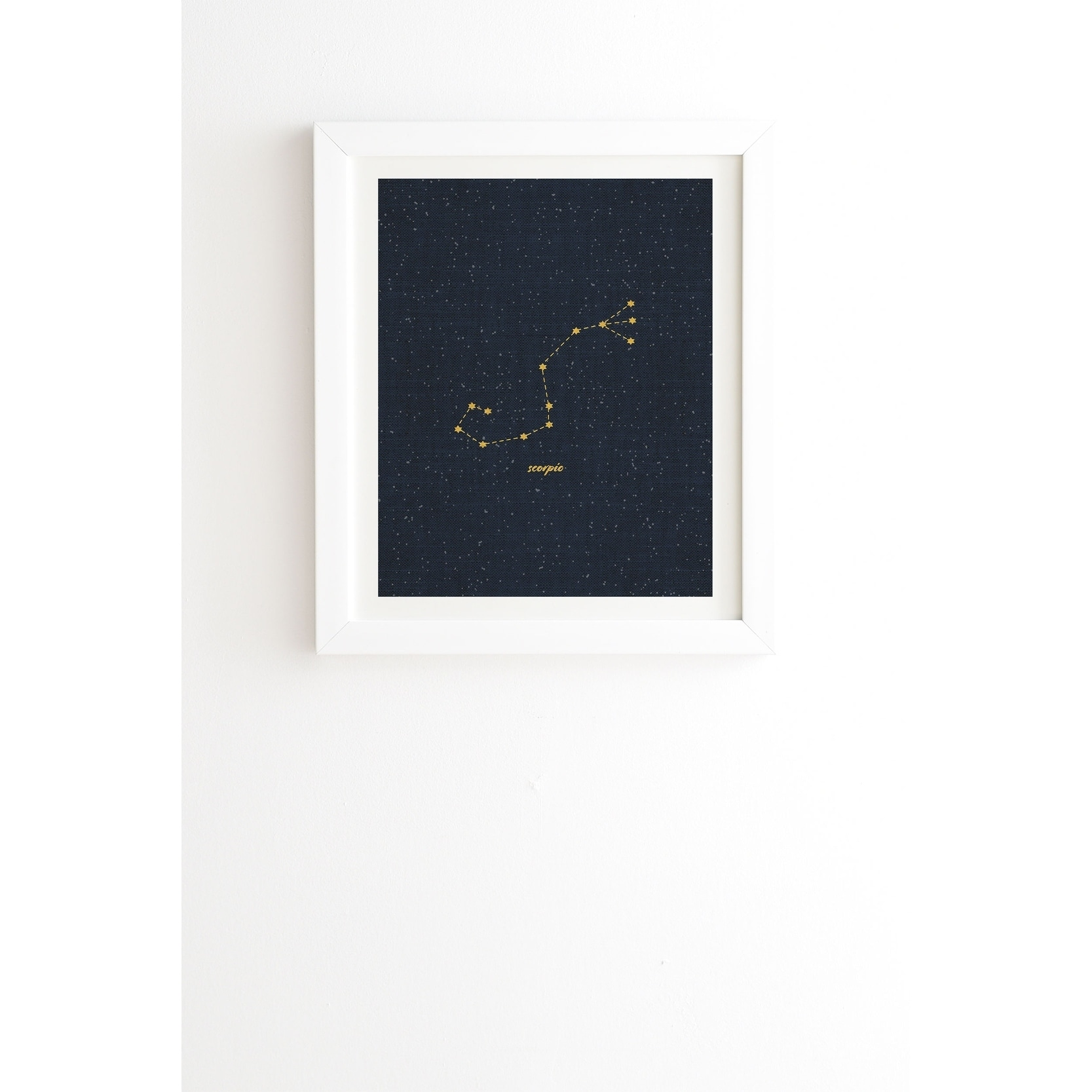 Deny Designs Constellation Aquarius Framed Wall Art (3 Frame Colors) -  Blue/Yellow