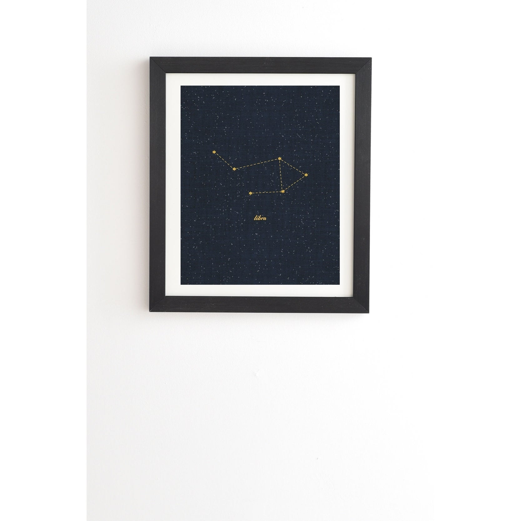 Deny designs constellation libra framed wall art 3 frame colors blue yellow