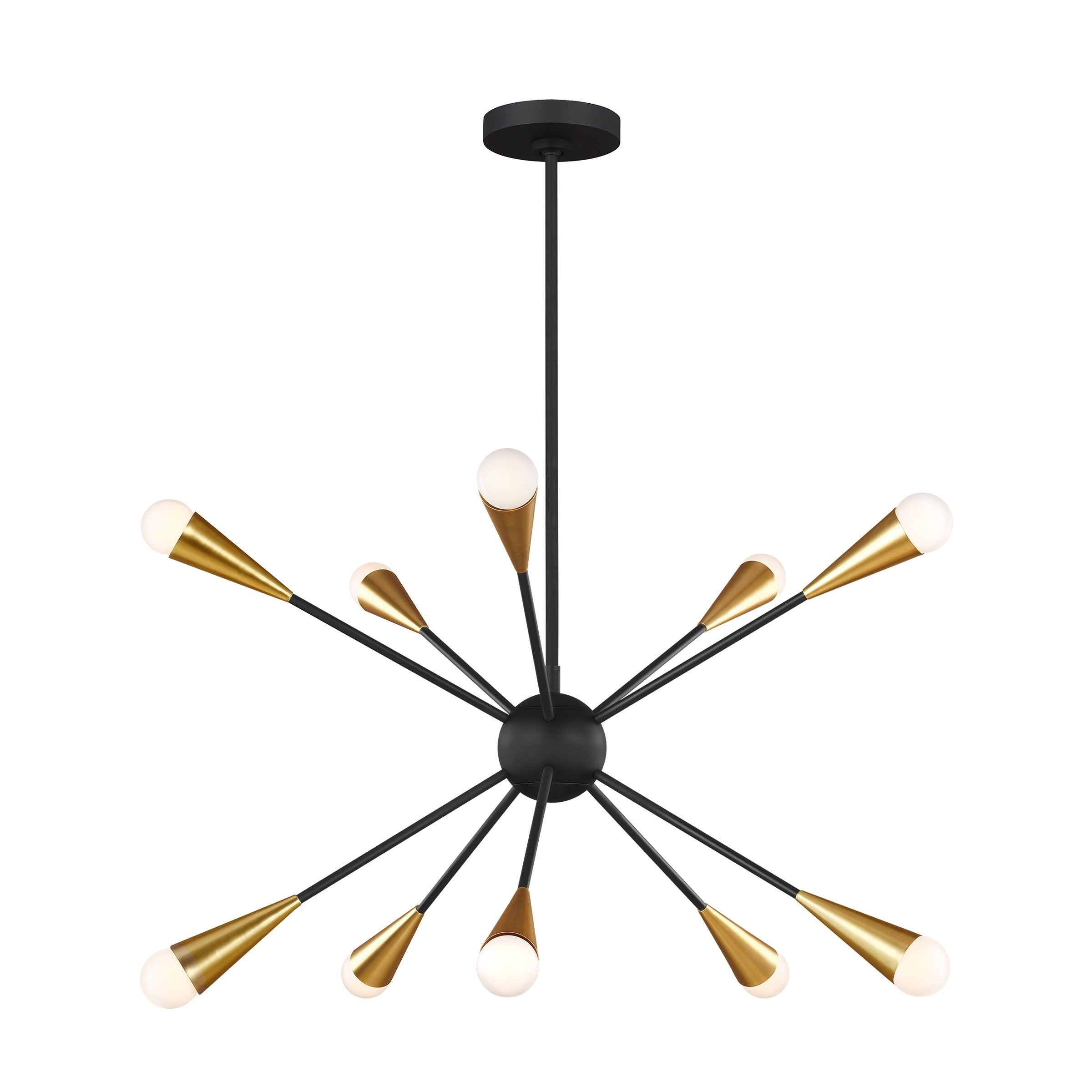 Jax Midnight Black Steel 10 Light Chandelier