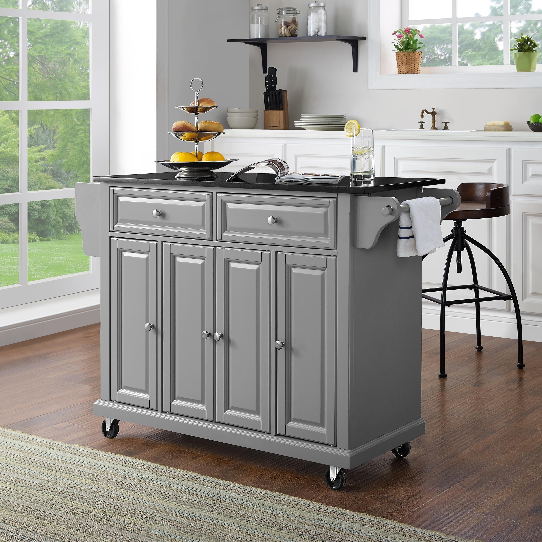 shop solid black granite top kitchen island free shipping today rh overstock com granite top kitchen island cart granite top kitchen island uk