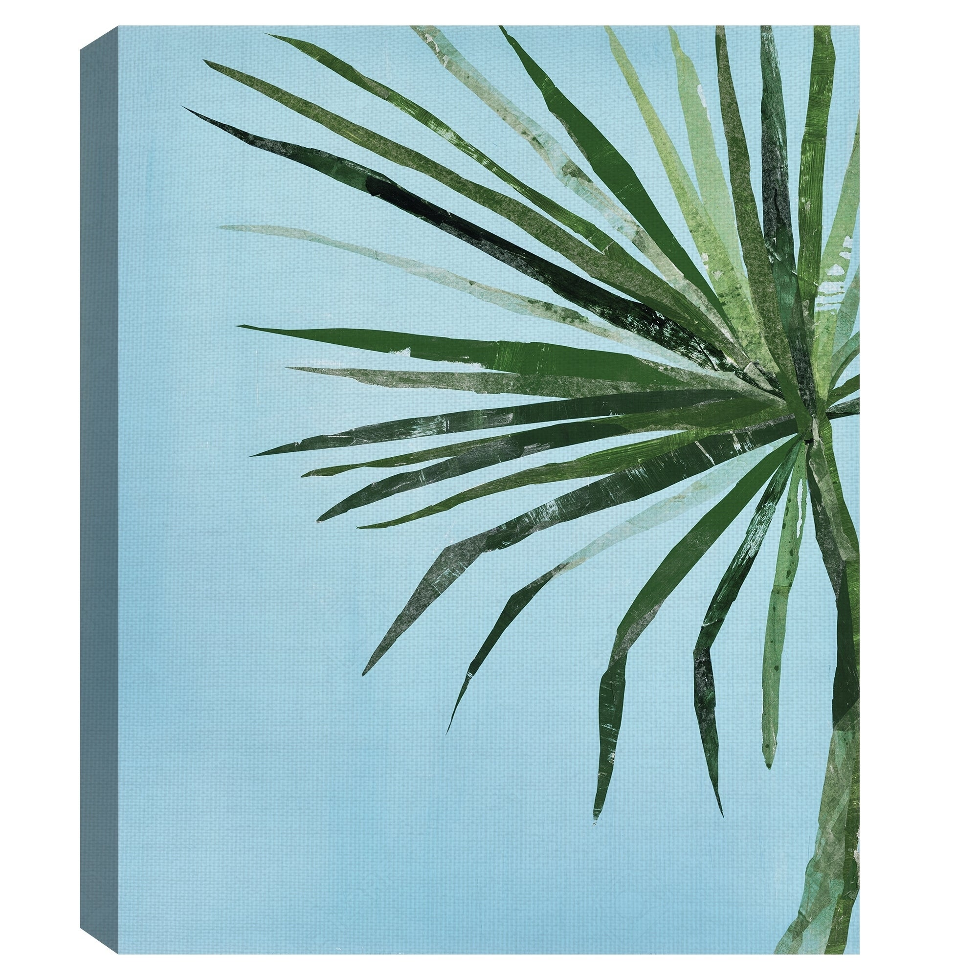 Fine art canvas summertime in blue i light palm tree canvas art print