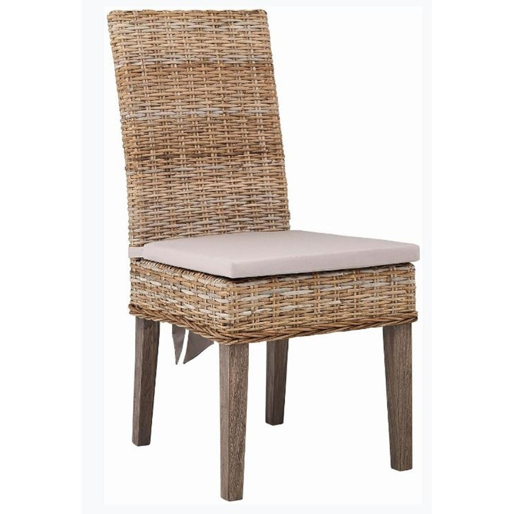 Shop johnstone rustic rattan dining chairs set of 2 free shipping today overstock com 27220789