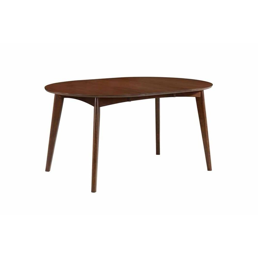 Shop Thomson Mid Century Modern Oval Dining Table Dark Walnut On