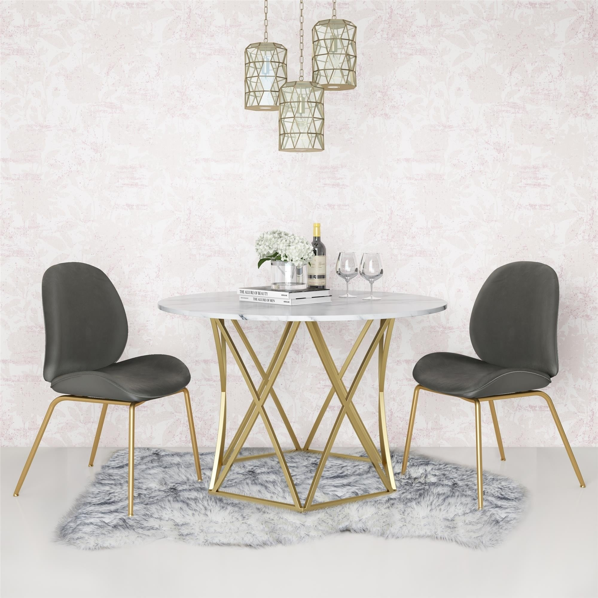 Cosmoliving By Cosmopolitan Elle Round Dining Table Overstock 27279705