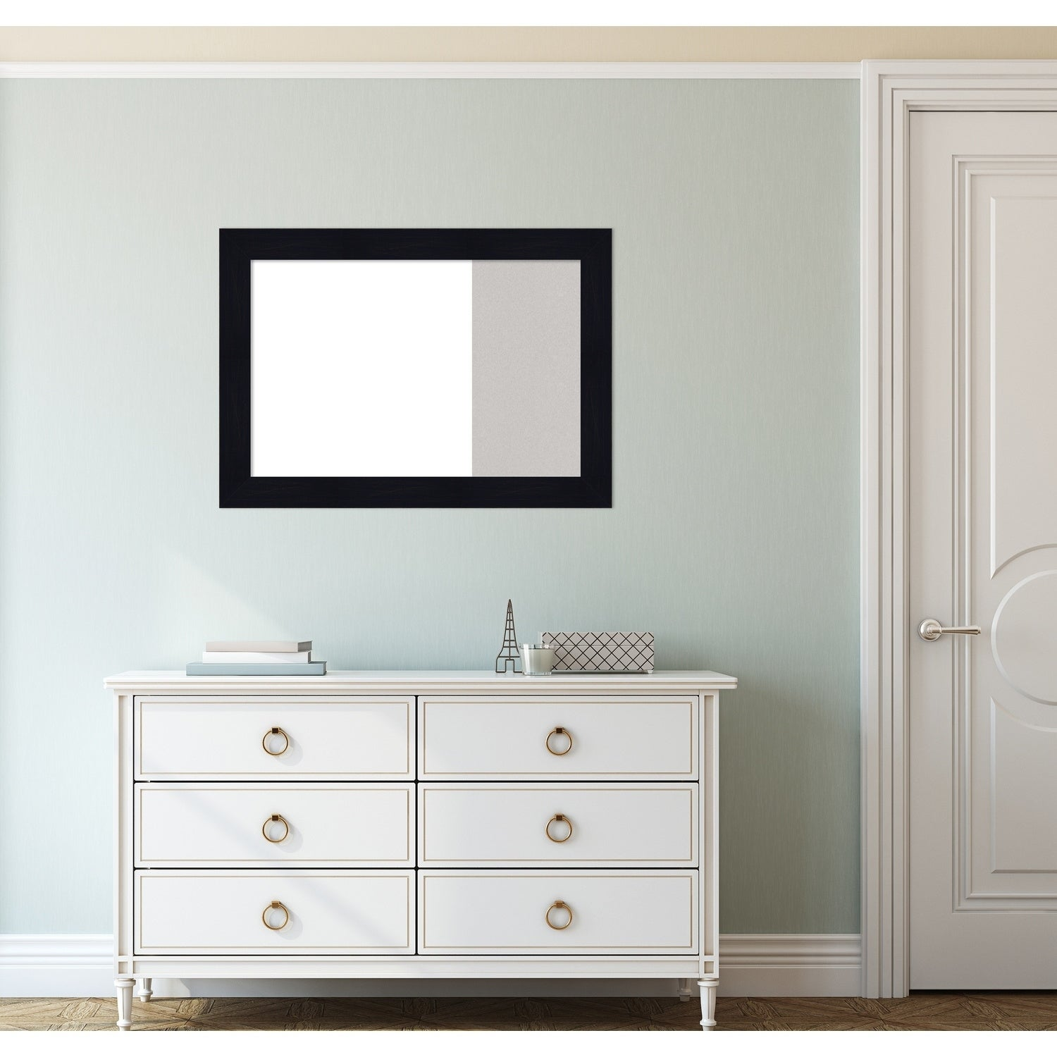 Shiplap Navy Wood Framed White Dry Erase Cork Combo Board On Free Shipping Today 27282746