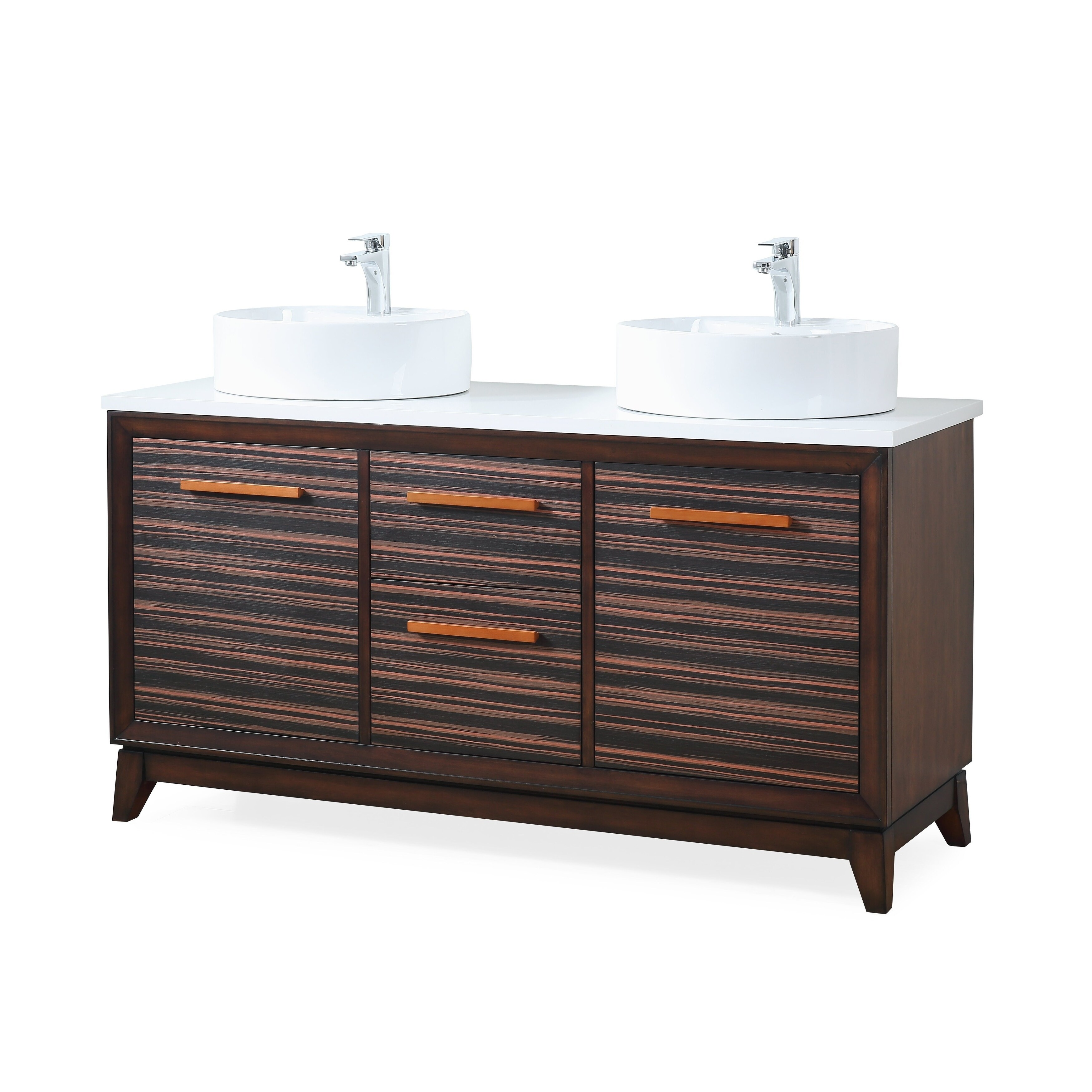 "Shop 63"" Tennnat Brand Arturo Double Sink Art Deco Bathroom Vanity"