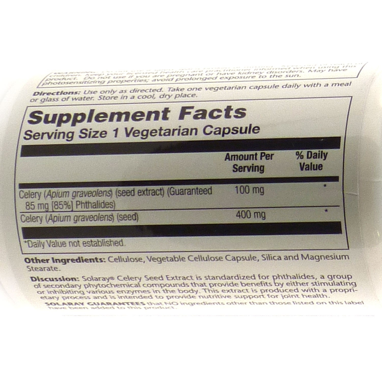 GP Celery Seed Extract 100 mg By Solaray - 30 Vegetable Caps