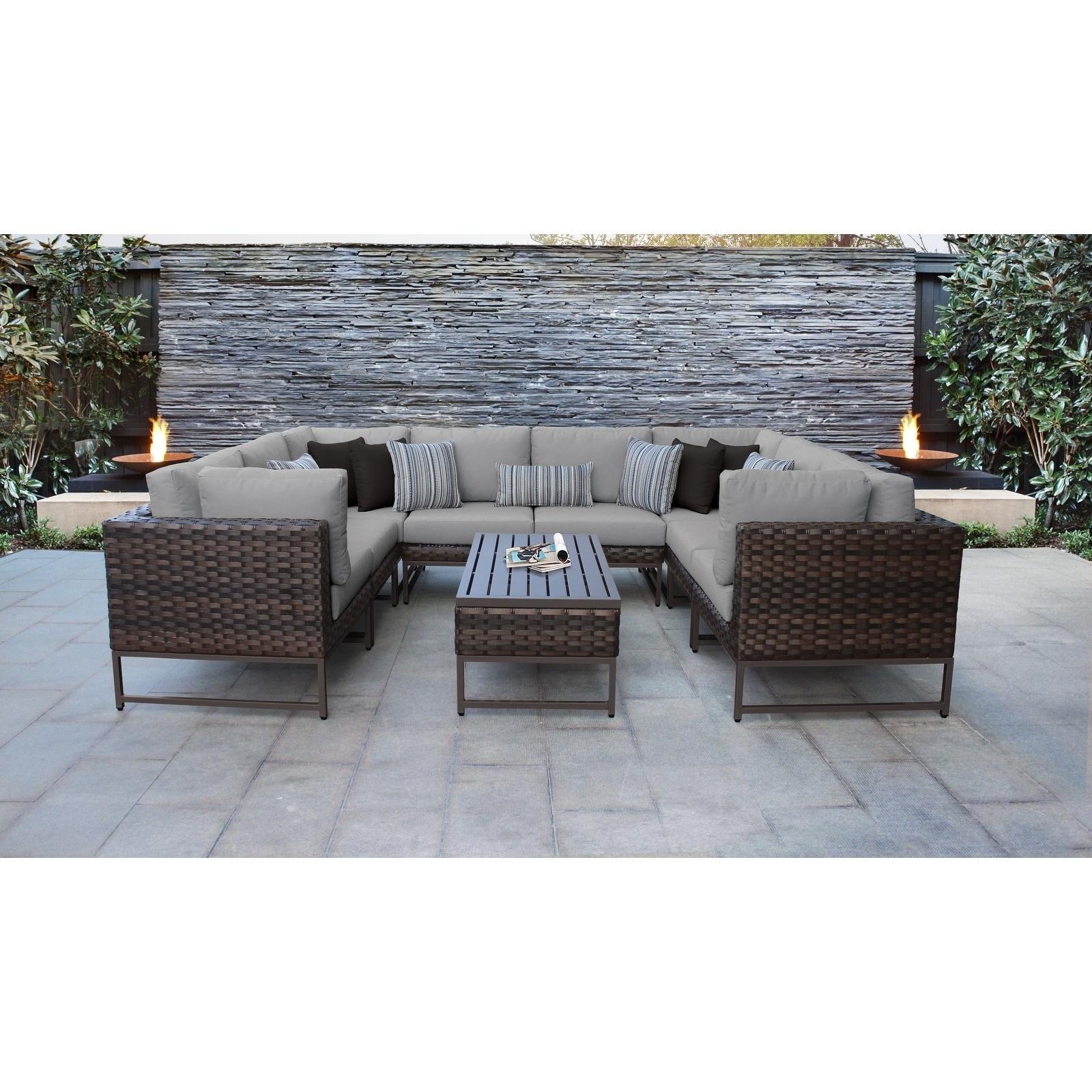 Barcelona 9 Piece Outdoor Wicker Patio Furniture Set 9c