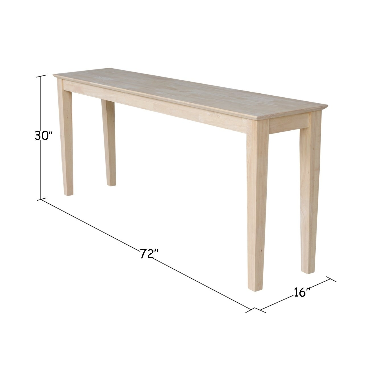 Shop Porch & Den Fairview 72-inch Shaker Console Table - Free ...