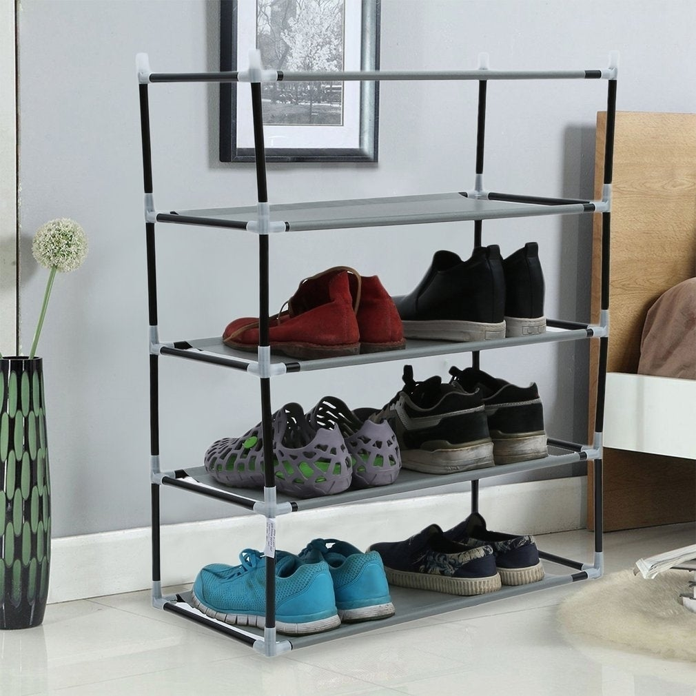 c2d77bb744d Shop Metal Shoes Rack 5 10 Layer Shoes Stand Dust-Shelves Storage Organizer  - Free Shipping On Orders Over  45 - Overstock - 27407395