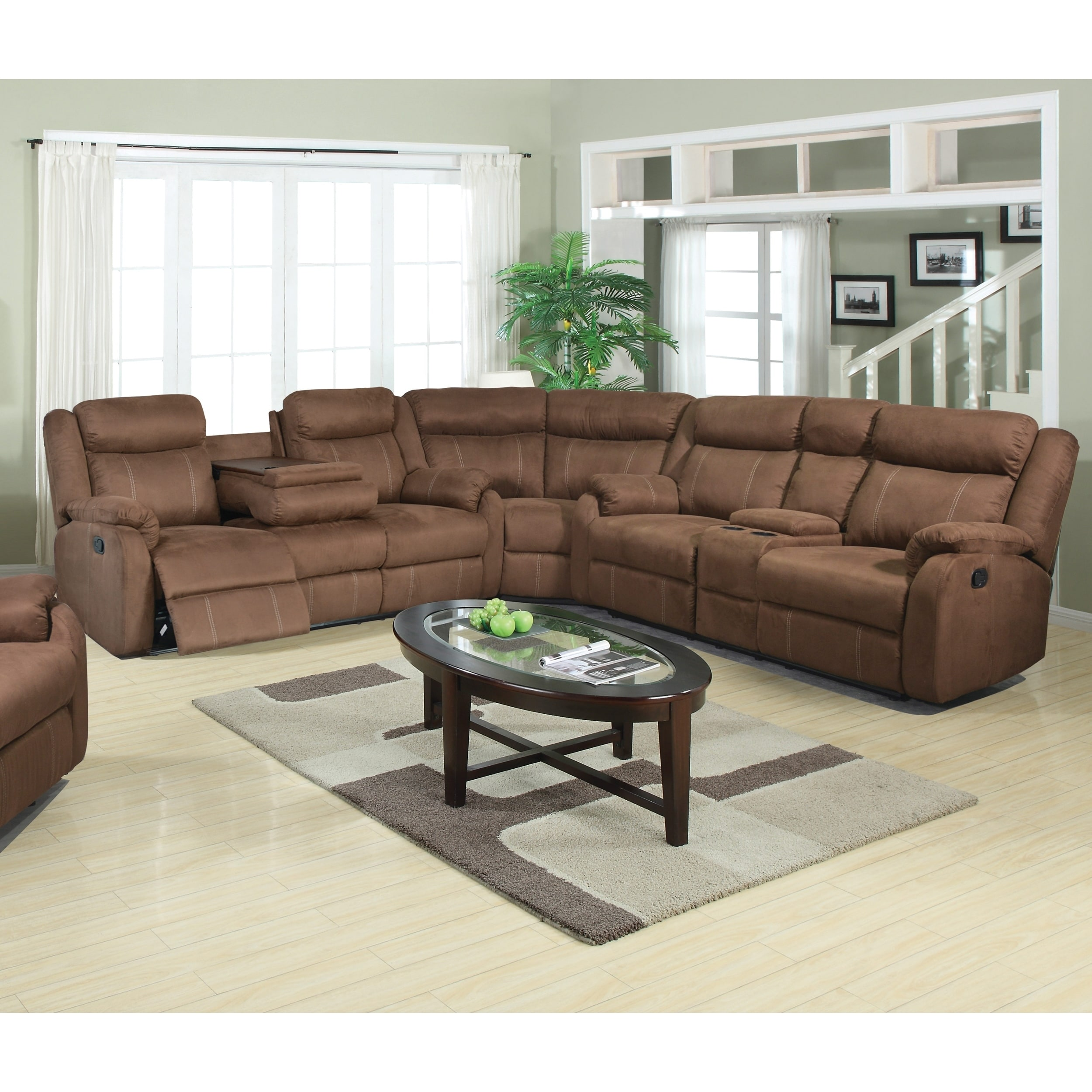 Shop Tompkins Chocolate Fabric Sectional Sofa - Free Shipping Today ...
