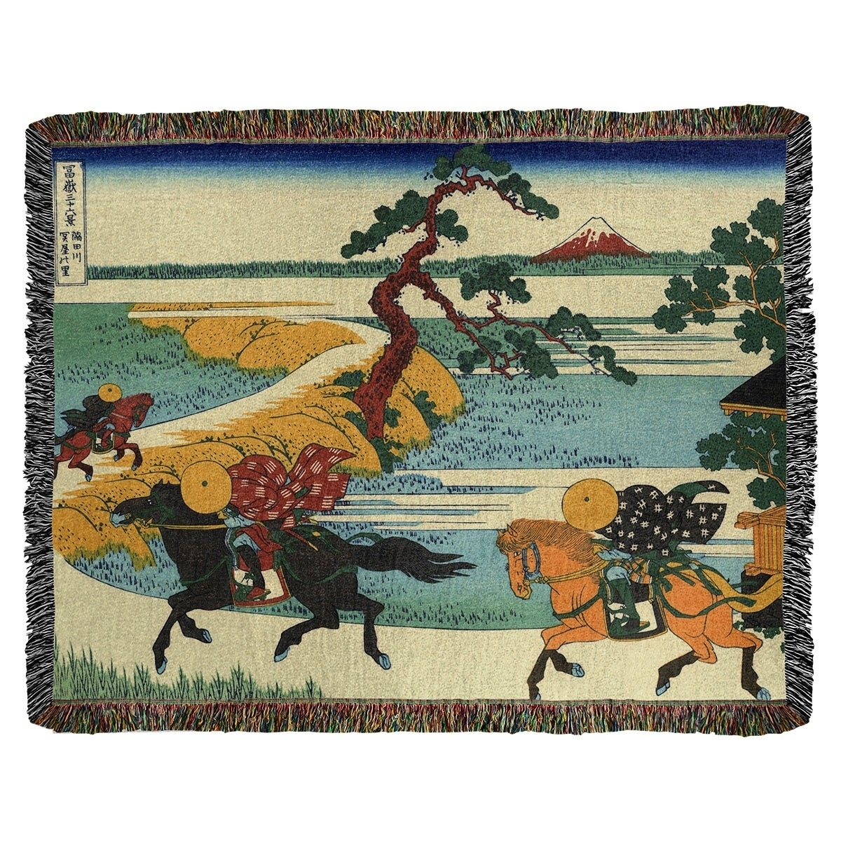 Katsushika Hokusai Sekiya Village At Sumida River Woven Blanket Artwork Content Process Multi 52 X 37 Overstock 27420941