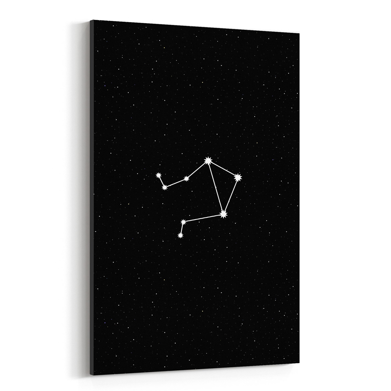 Noir gallery night sky libra astrology zodiac canvas wall art print