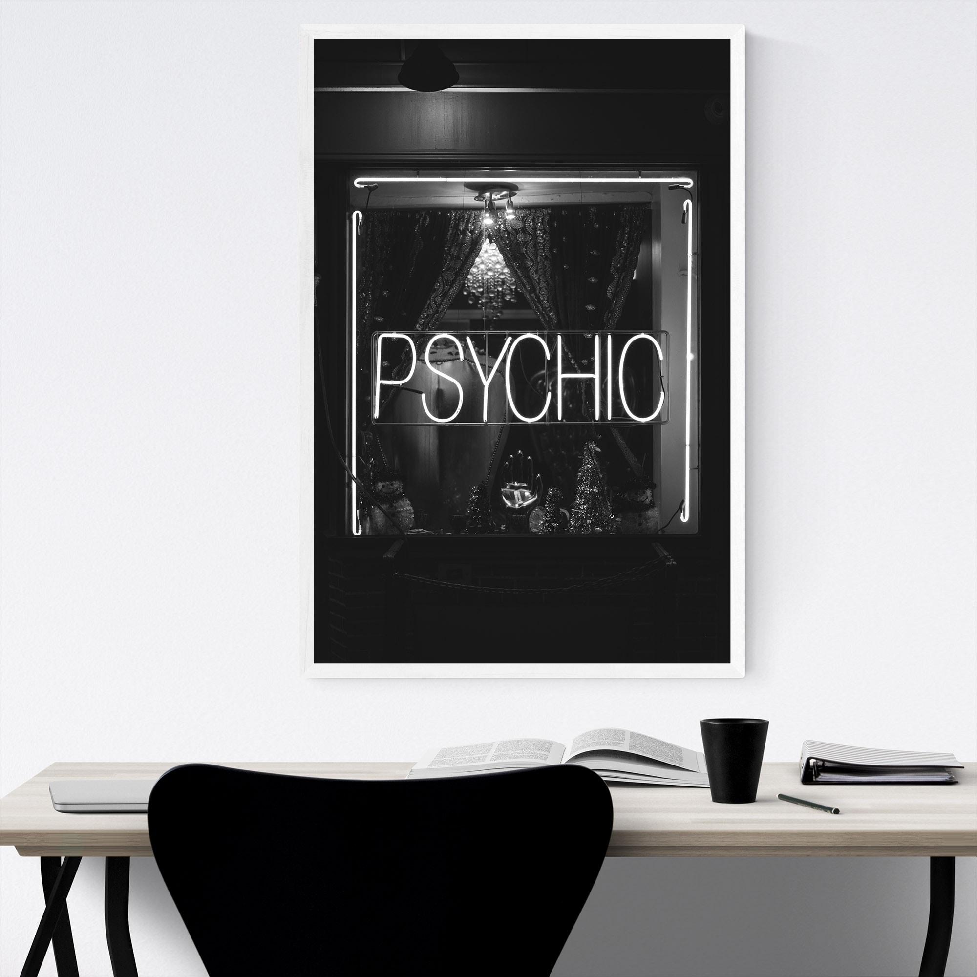 Noir Gallery Black & White New York Psychic Framed Art Print