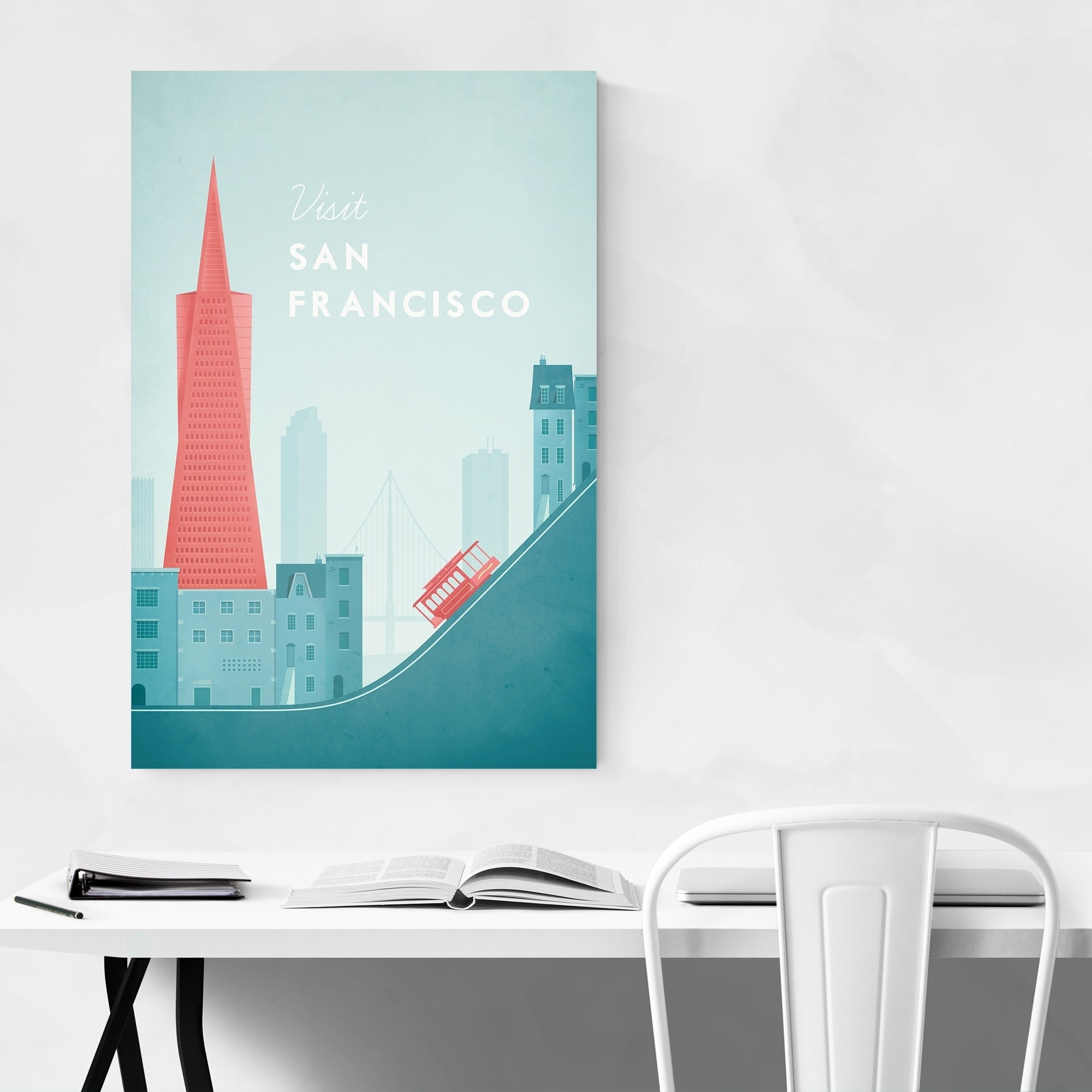 Noir Gallery Minimal Travel San Francisco Unframed Art Print/Poster