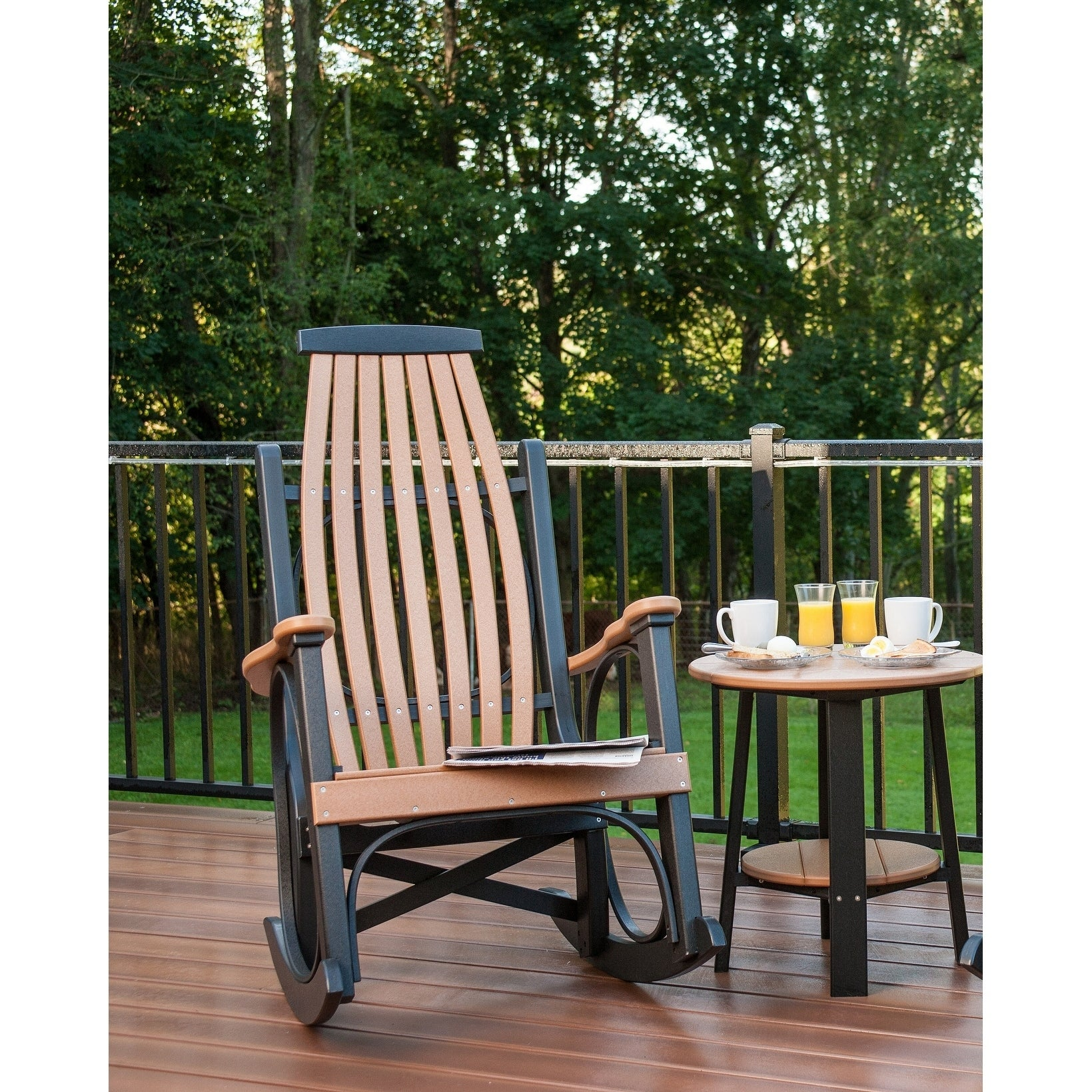 Grandpas outdoor rocking chair recycled plastic