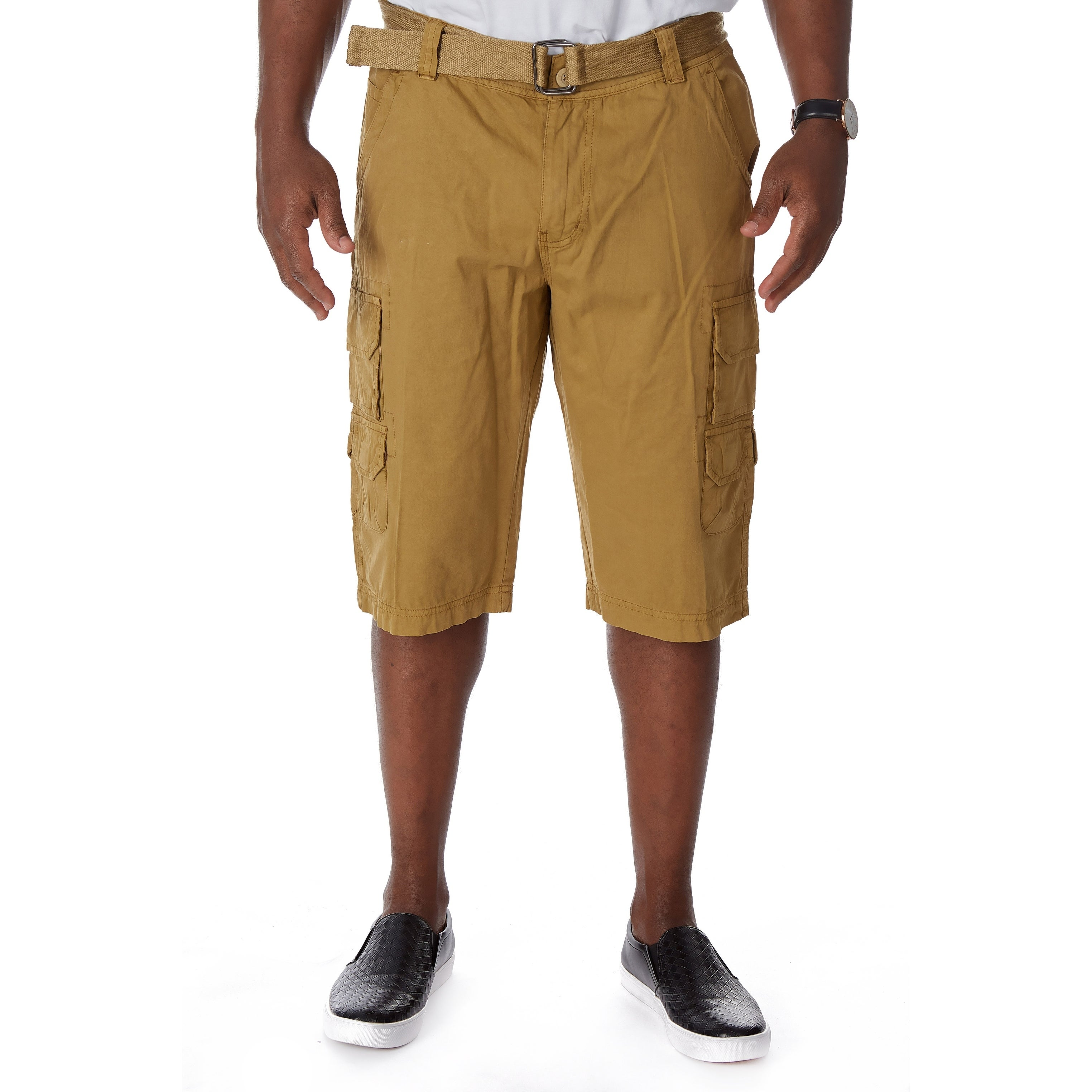 a35601436e Shop Raw X Men's Belted Stacked Cargo Shorts with Hidden Snaps - Free  Shipping On Orders Over $45 - Overstock - 27479241
