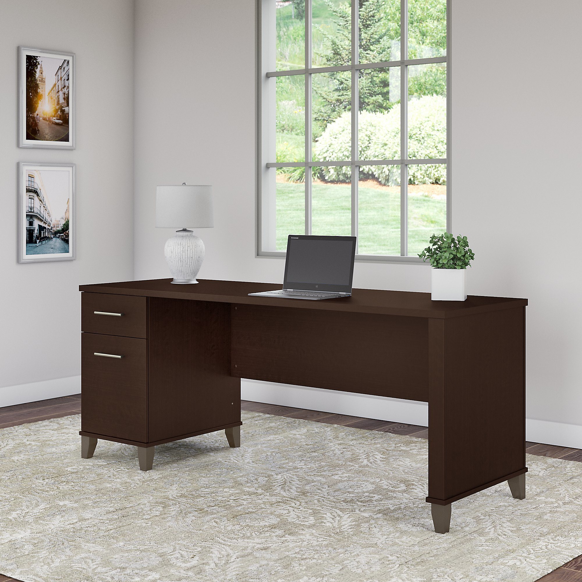 Amazing Copper Grove Shumen 72 Inch Office Desk With Drawers In Cherry Download Free Architecture Designs Scobabritishbridgeorg