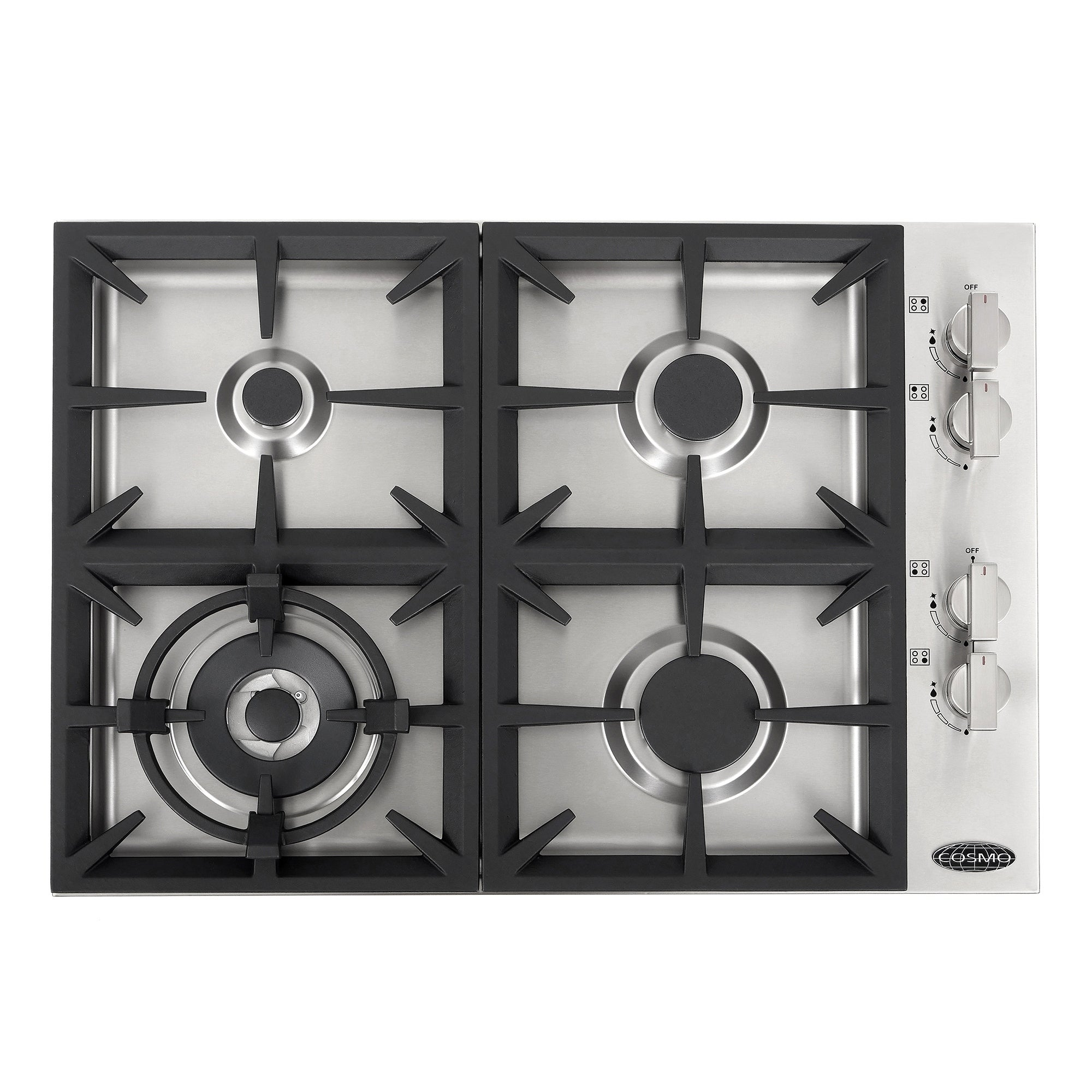 30 In Gas Cooktop Stainless Steel With 4 Italian Made Burners Inches
