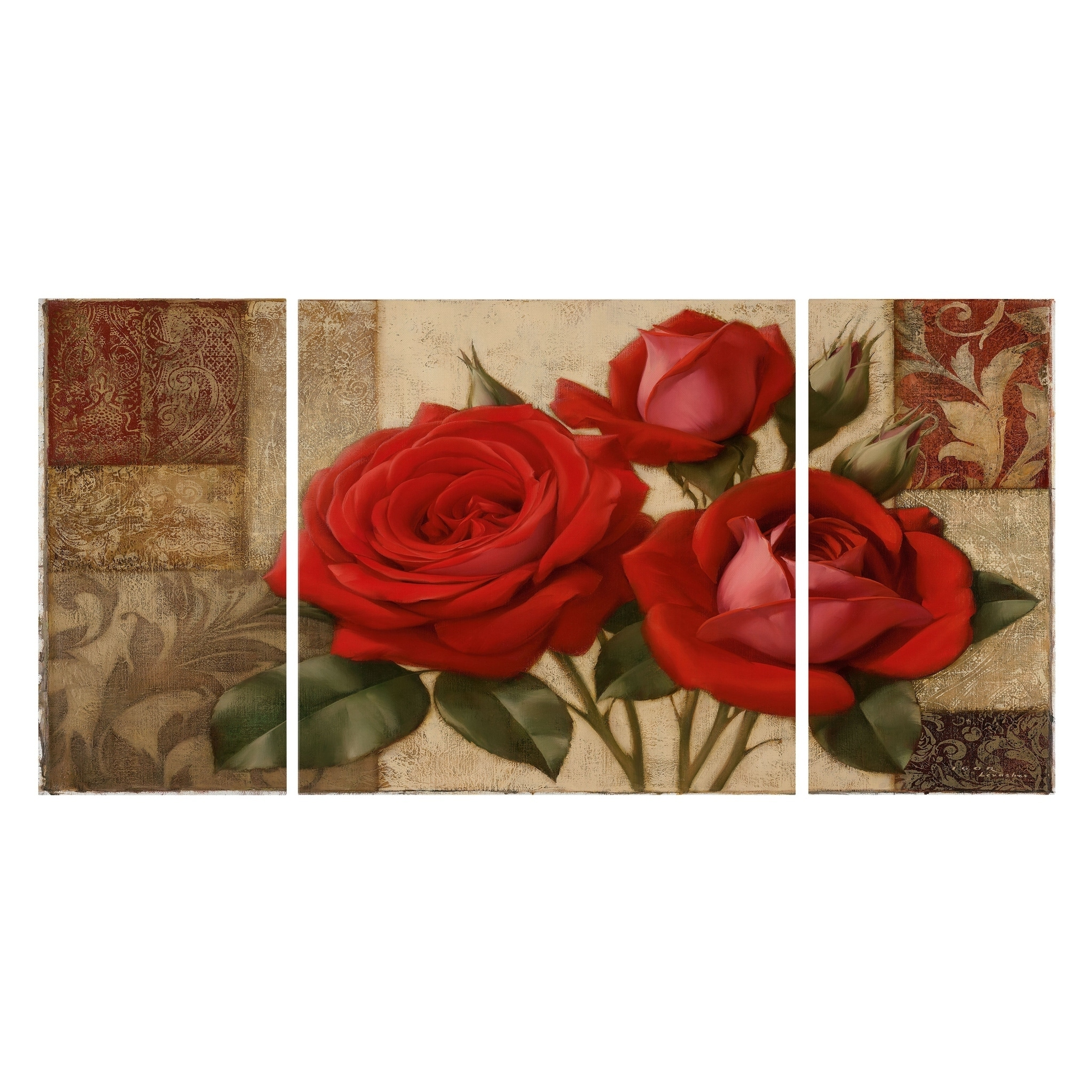 2c34b549638 Shop Wexford Home  Summers s Gift II  Canvas Wall Art (Set of 3) - Free  Shipping Today - Overstock - 27540053